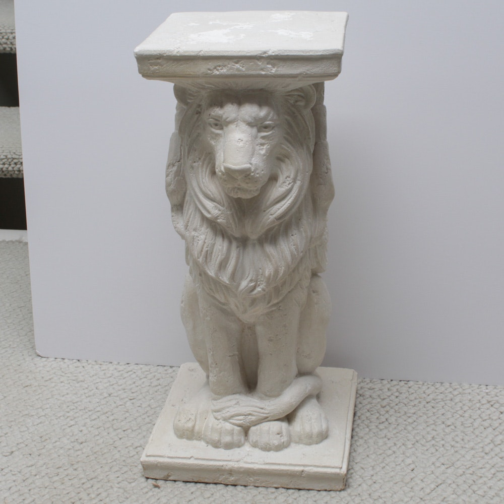 Ron Art 1987 Plaster Sculpture of Winged Lion