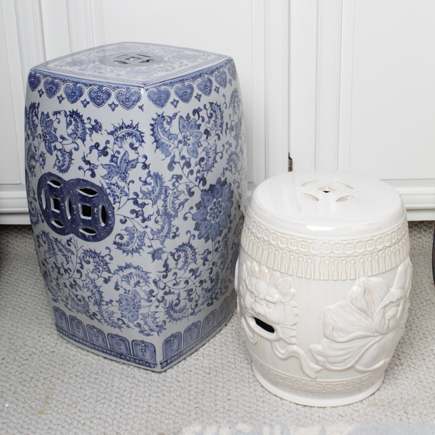 Chinese Ceramic Garden Stools