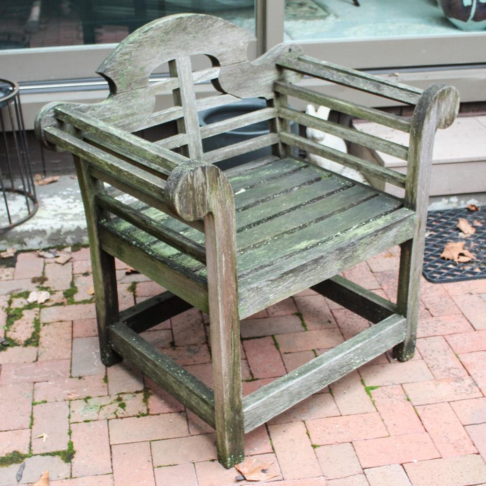 Lutyens Style Teak Outdoor Armchair