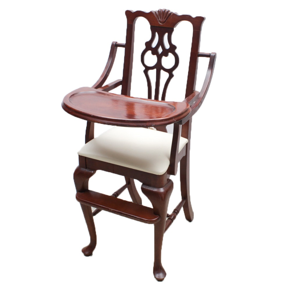 Young Hinkle Queen Anne Style Mahogany Rubberwood High Chair