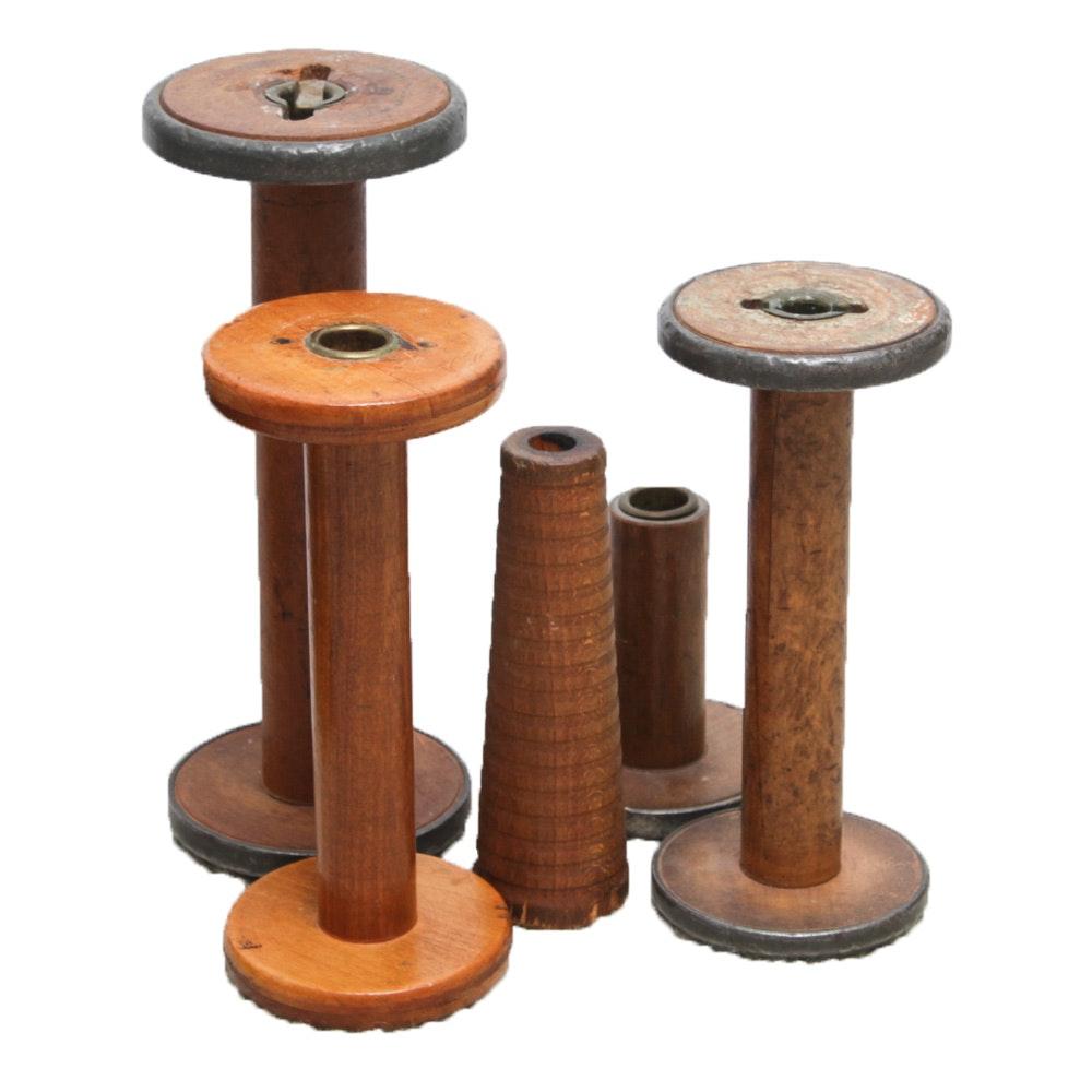 Antique Wooden Spools