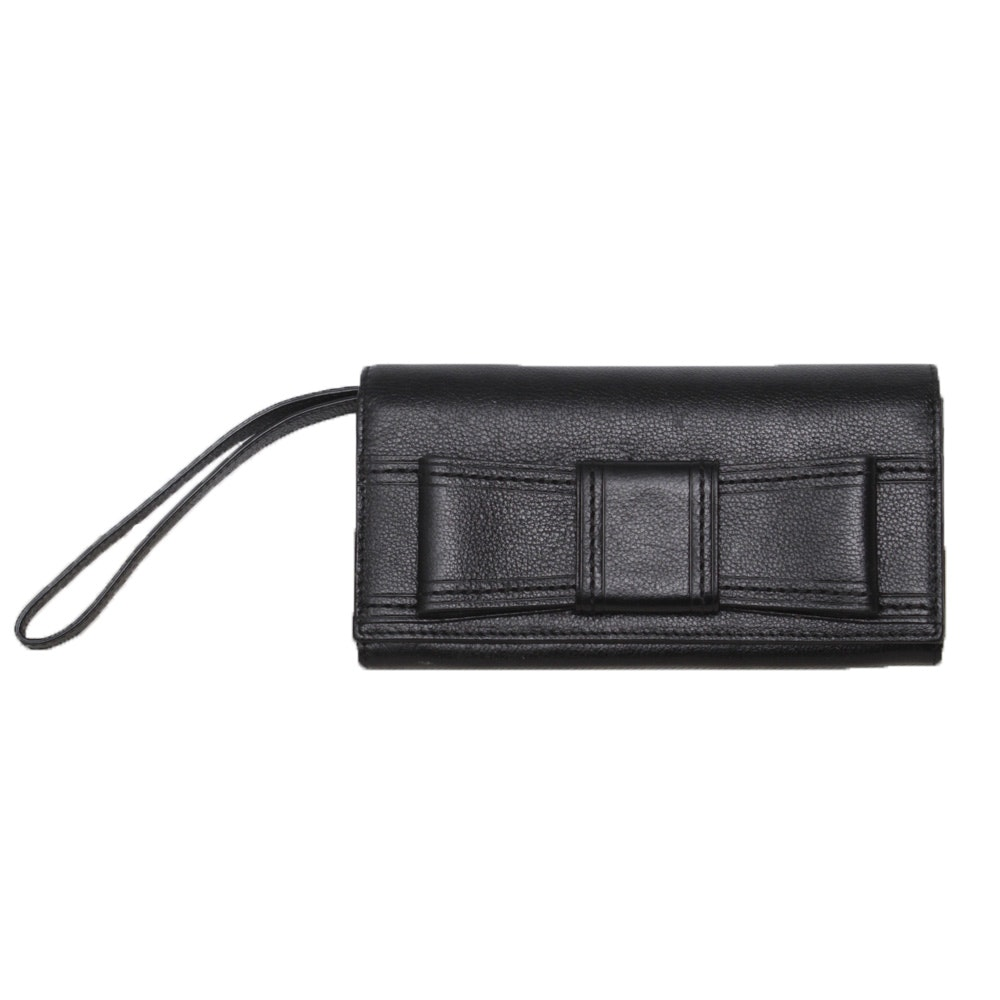 Kate Spade New York Black Leather Wristlet Clutch