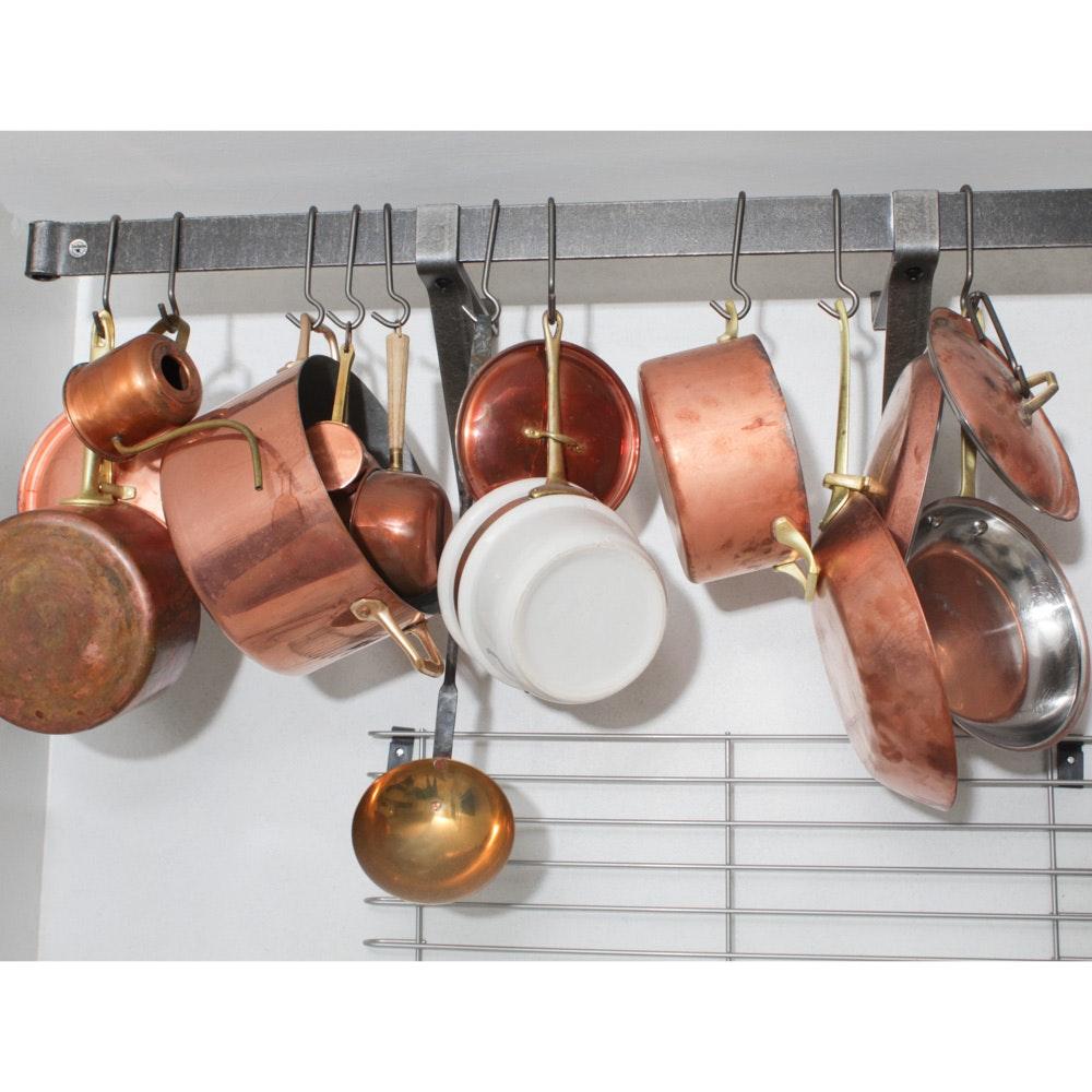 Assembled Batterie de Cuisine Copper Cookware Assortment