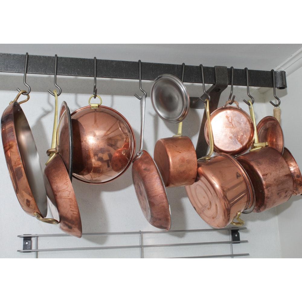 Assembled Batterie de Cuisine Copper Cookware Collection