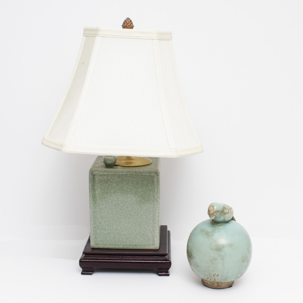 Decorative Table Lamp and Bird Figurine