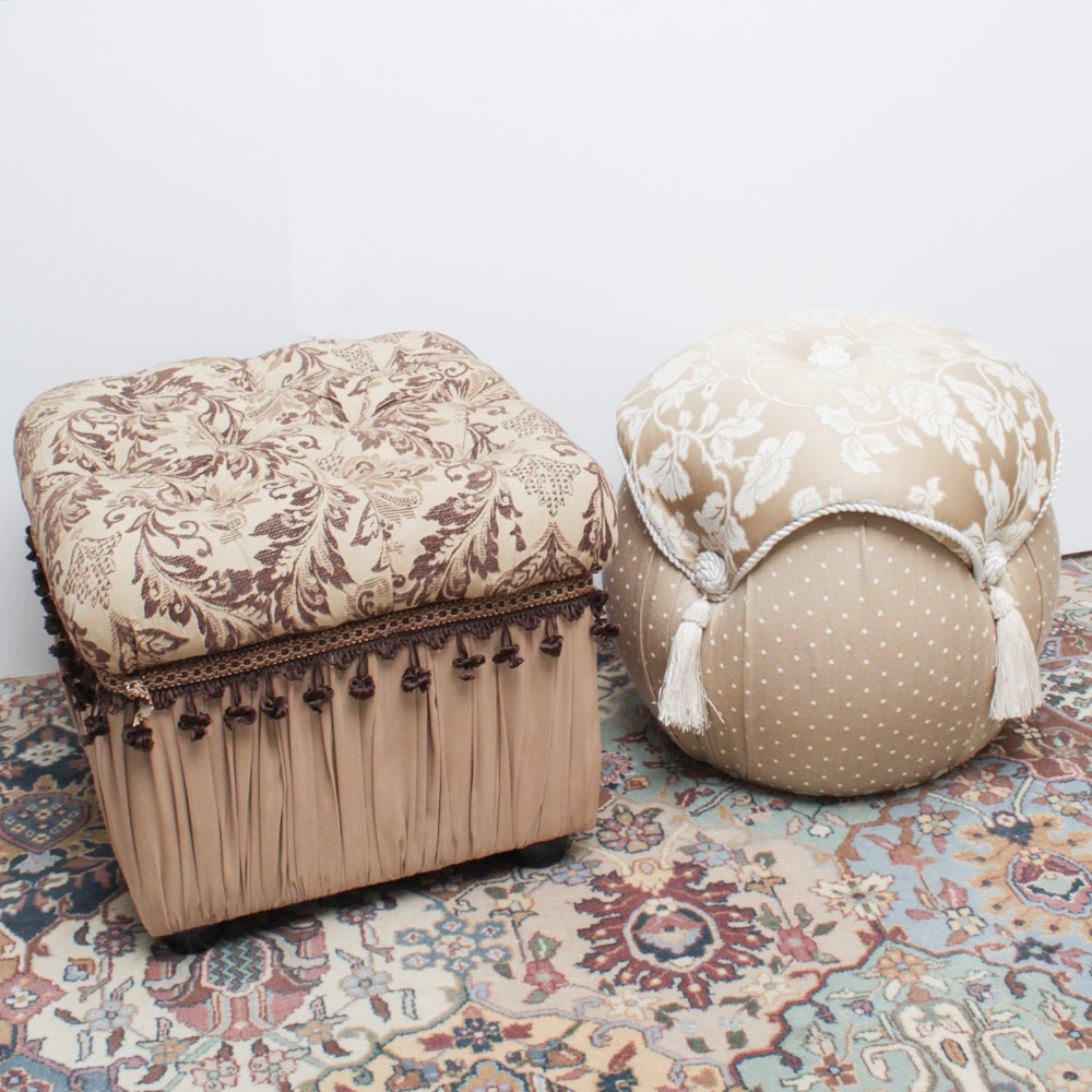 Upholstered Poufs