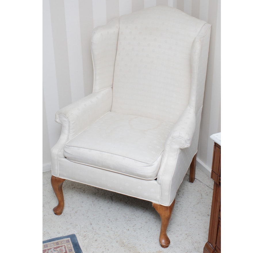Vintage Queen Anne Style Chair By Rowe Furniture Ebth