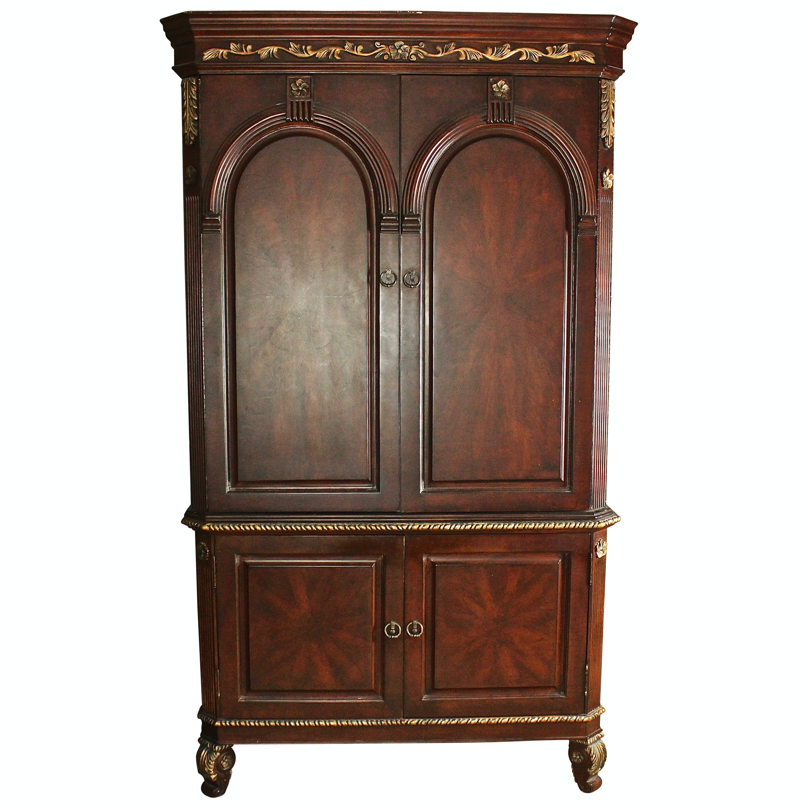 Riviera Mahogany Hand Carved Armoire