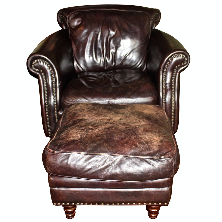Strange Cordovan Leather Studded Armchair By Decoro Usa Unemploymentrelief Wooden Chair Designs For Living Room Unemploymentrelieforg