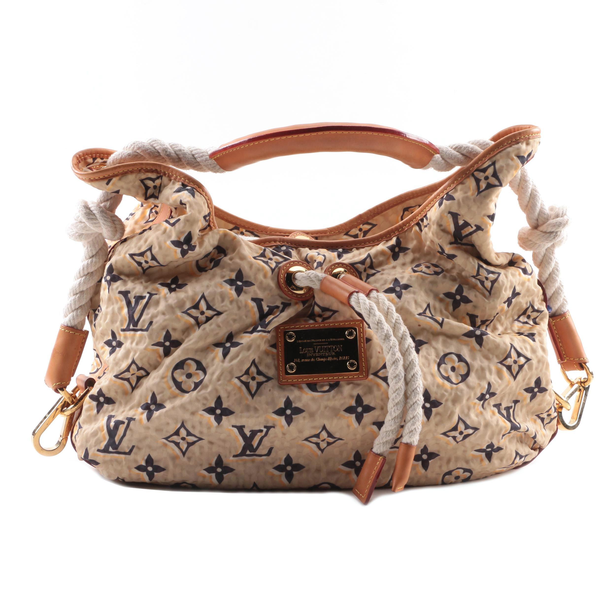 Louis Vuitton of Paris Limited Edition Tan Nylon Monogram Bulles MM Bag