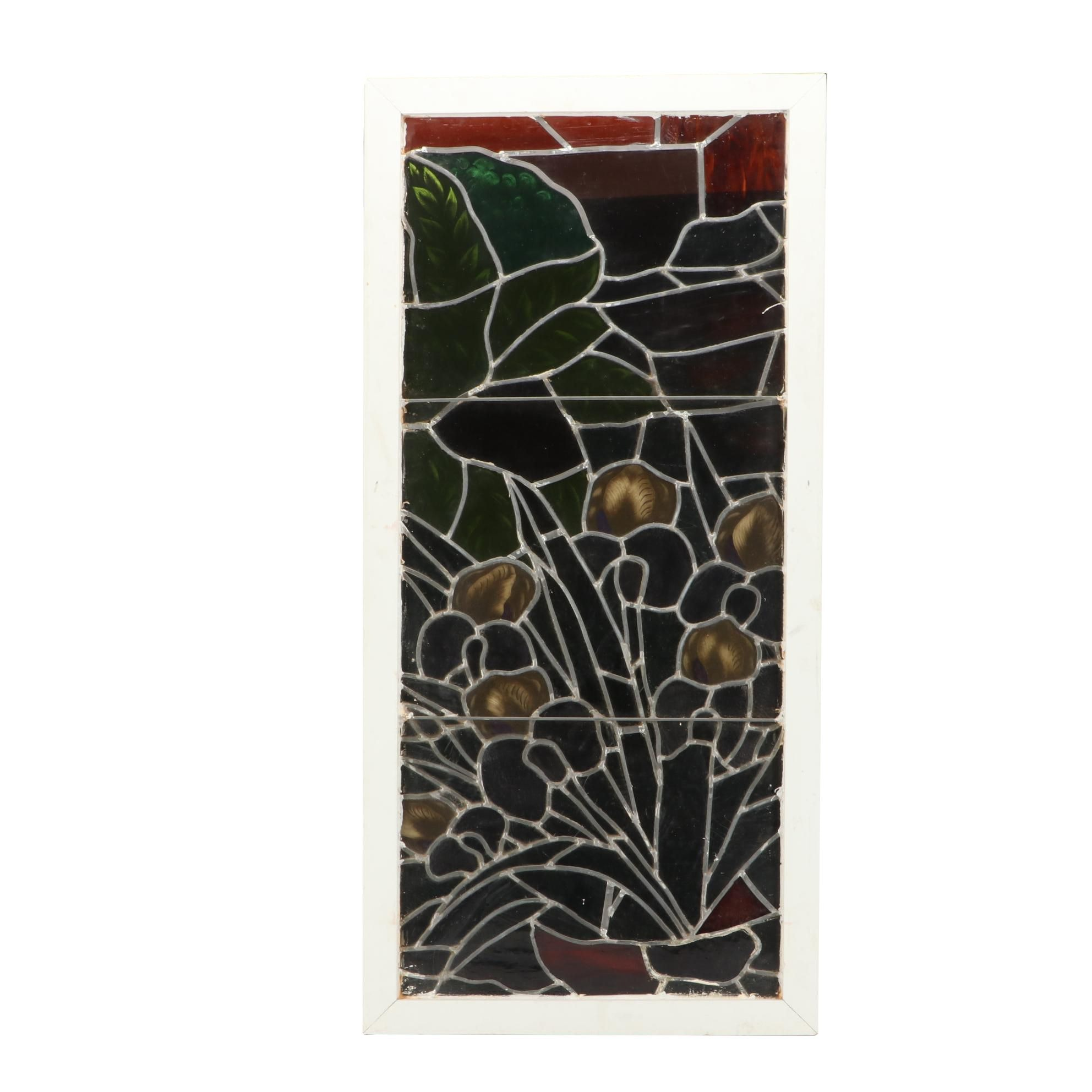 Handmade Hand-painted Custom Leaded Stained Glass Panel