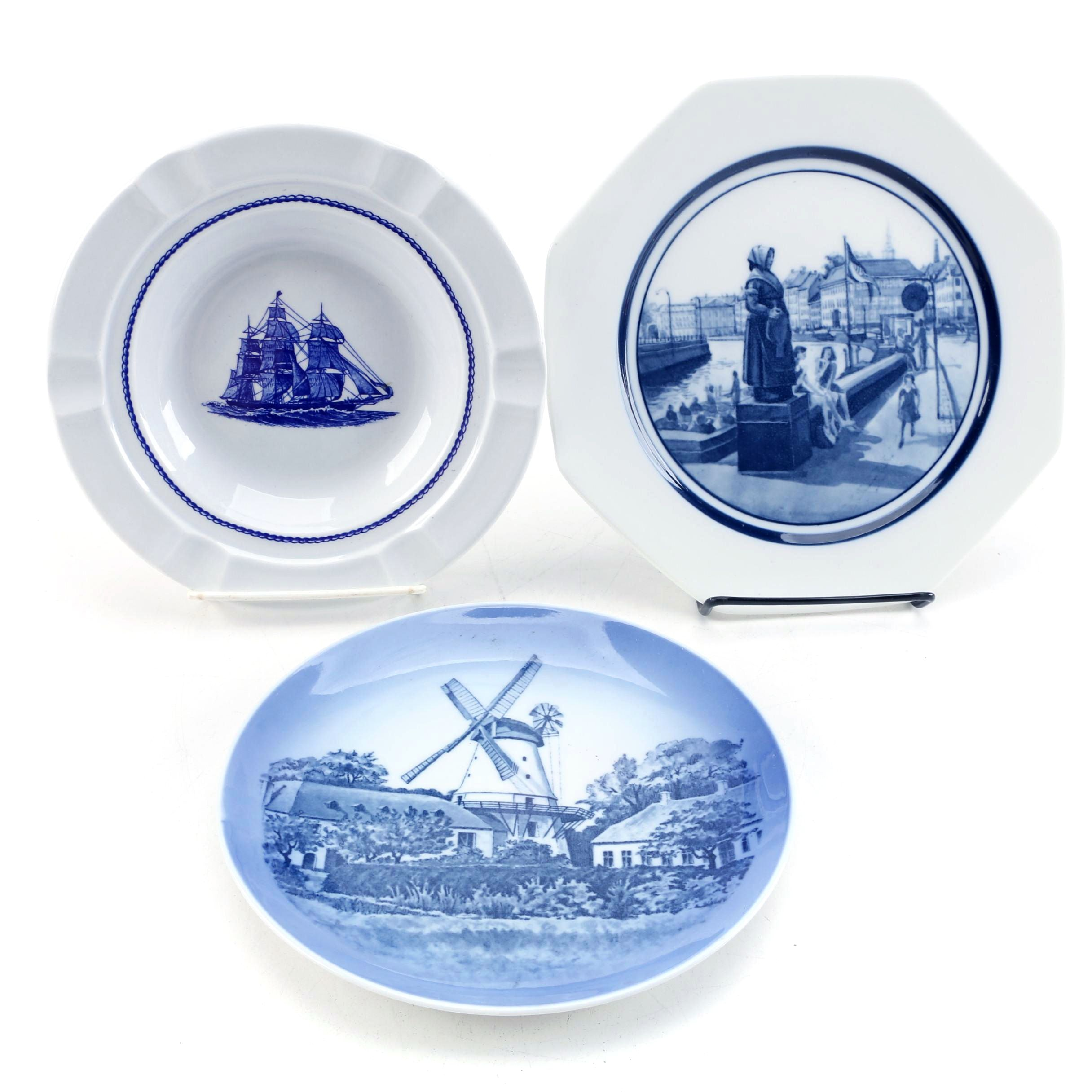 Royal Copenhagen and Wedgwood Porcelain Collector Plates