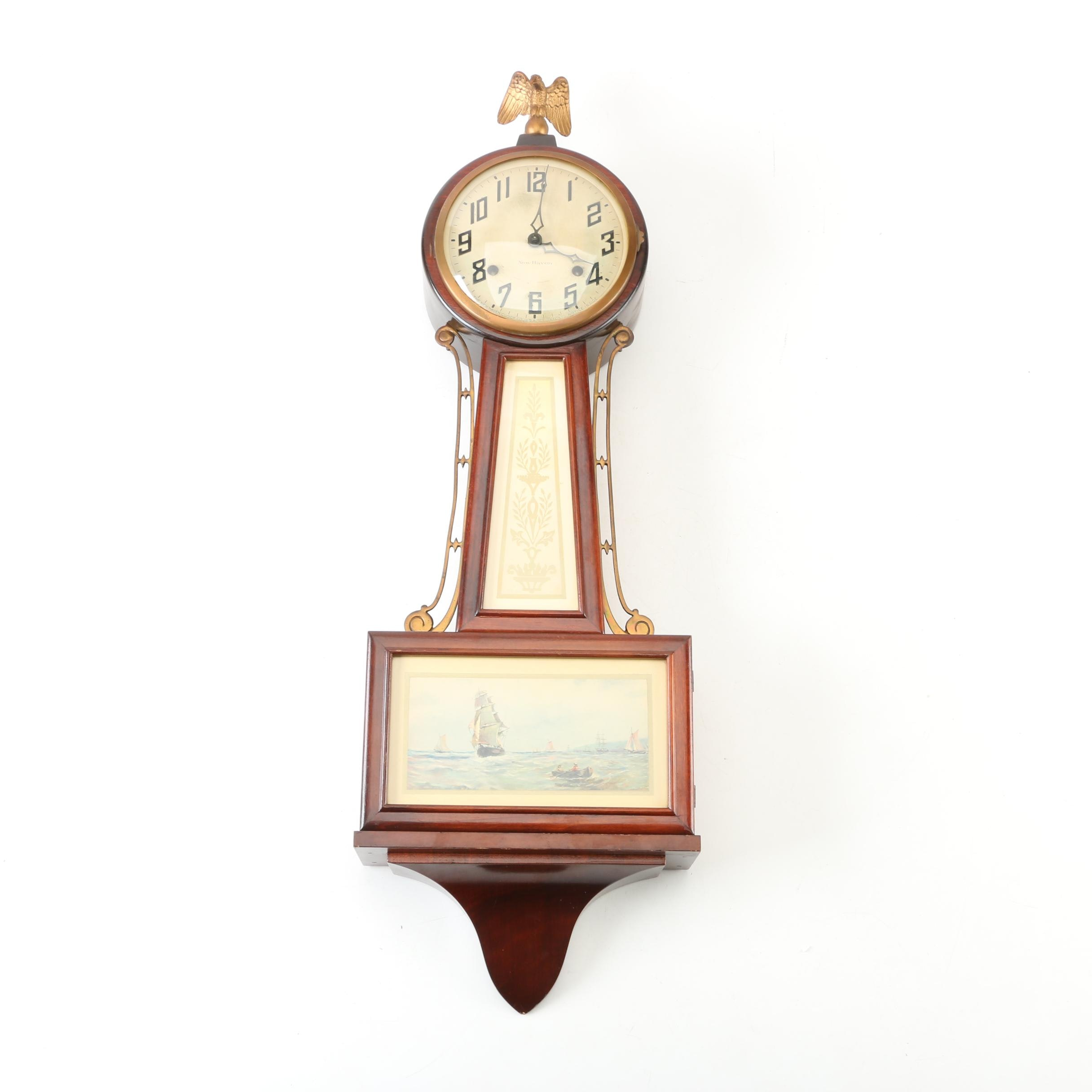 "Circa 1910 New Haven Clock Co. ""Whitney"" Banjo Clock"