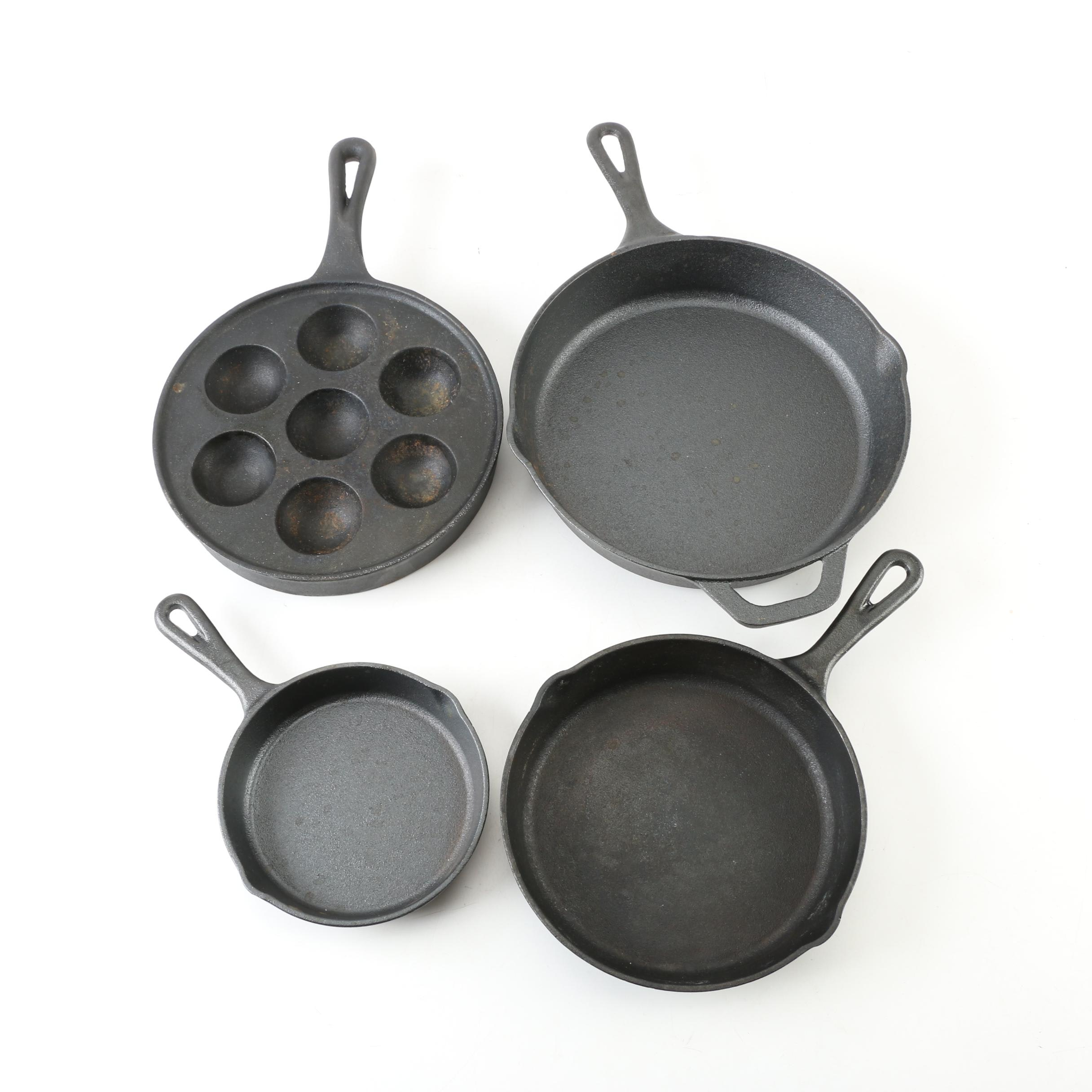 Kookantage Cast Iron Skillets and Egg Poacher