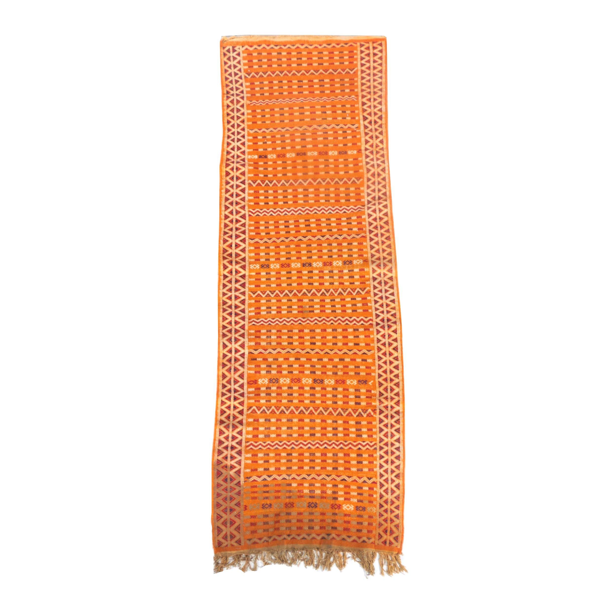 Handwoven Moroccan Zemmour Wool Kilim Runner