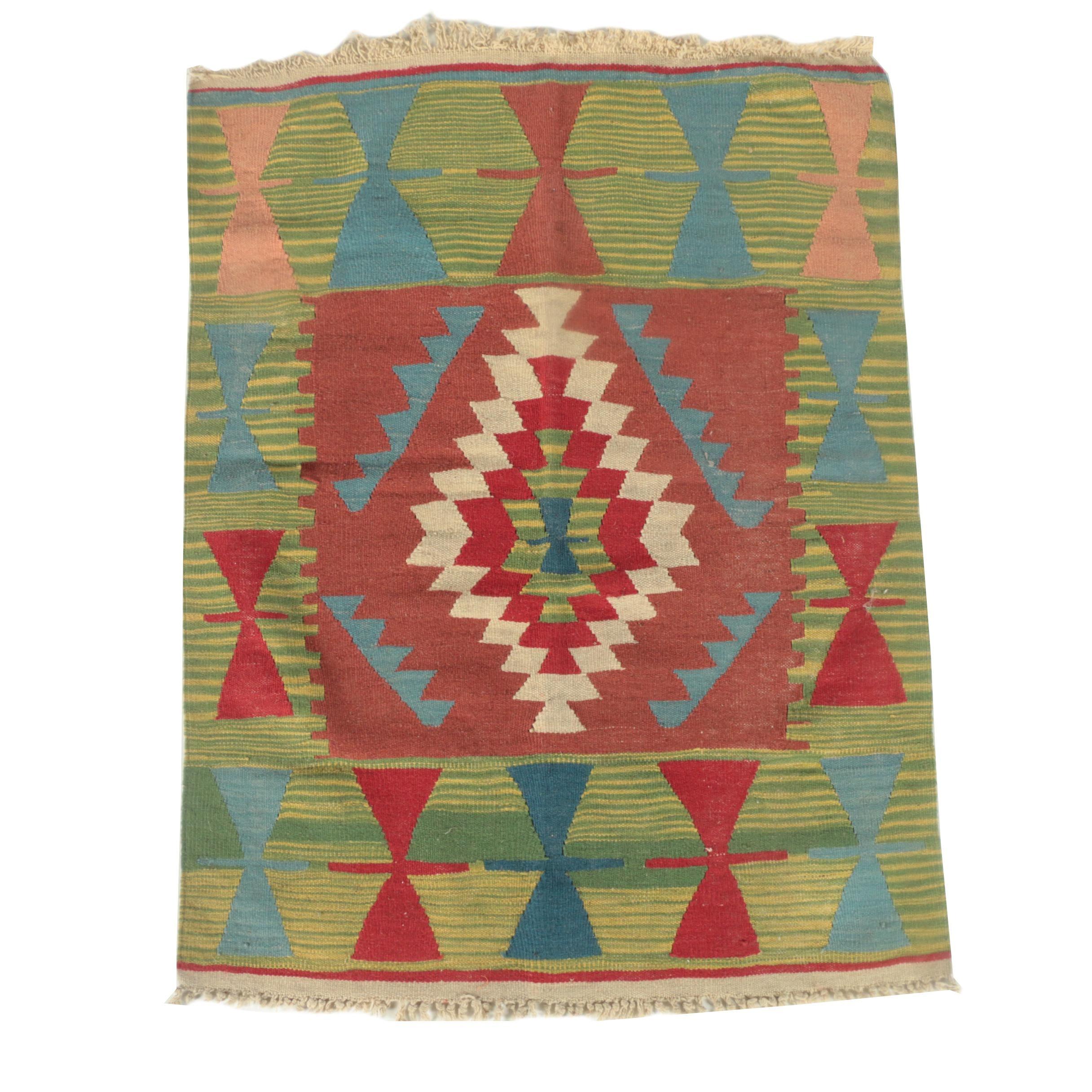 Handwoven Turkish Wool Kilim for Phoenician Imports