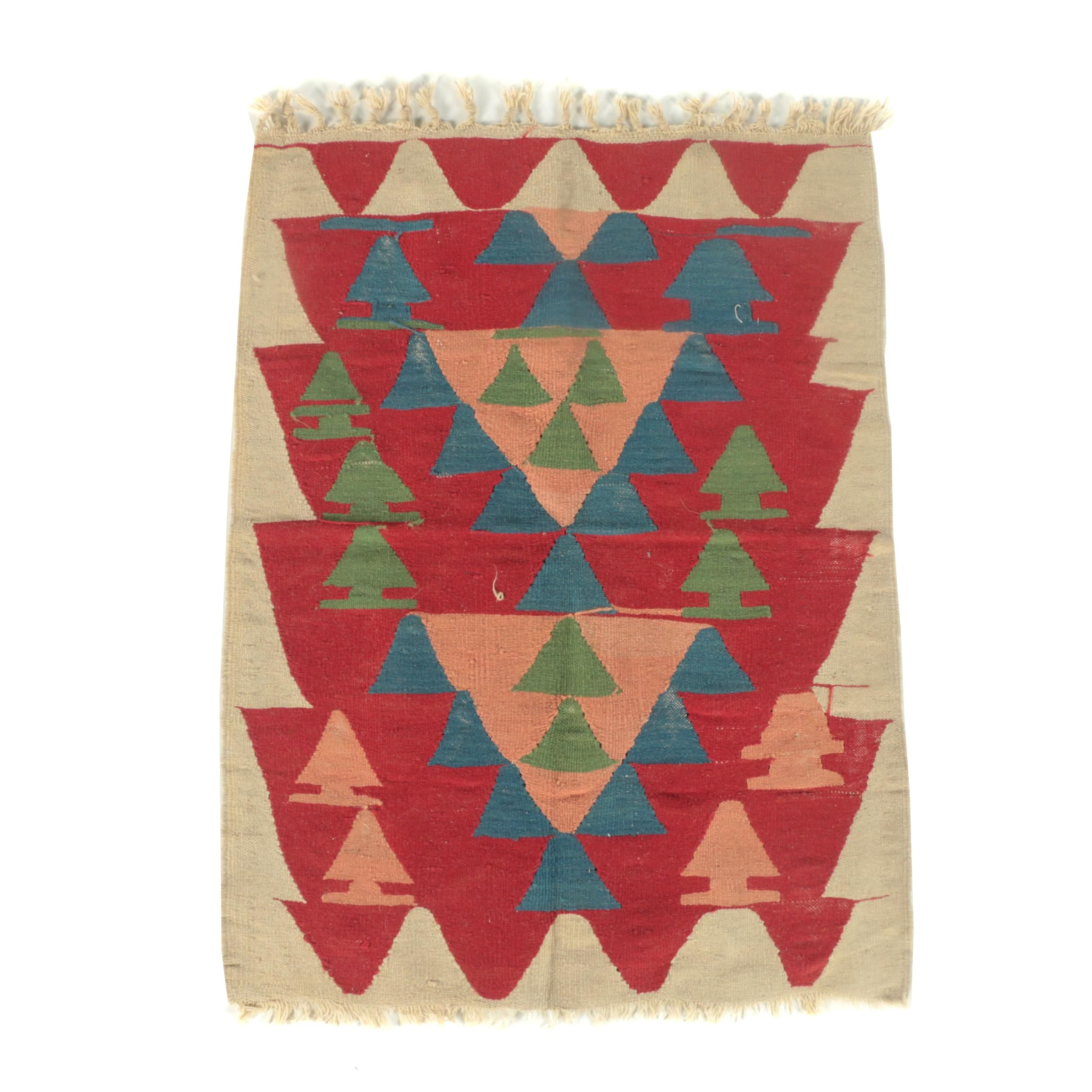 Vintage Handwoven Turkish Wool Kilim for Phoenician Imports