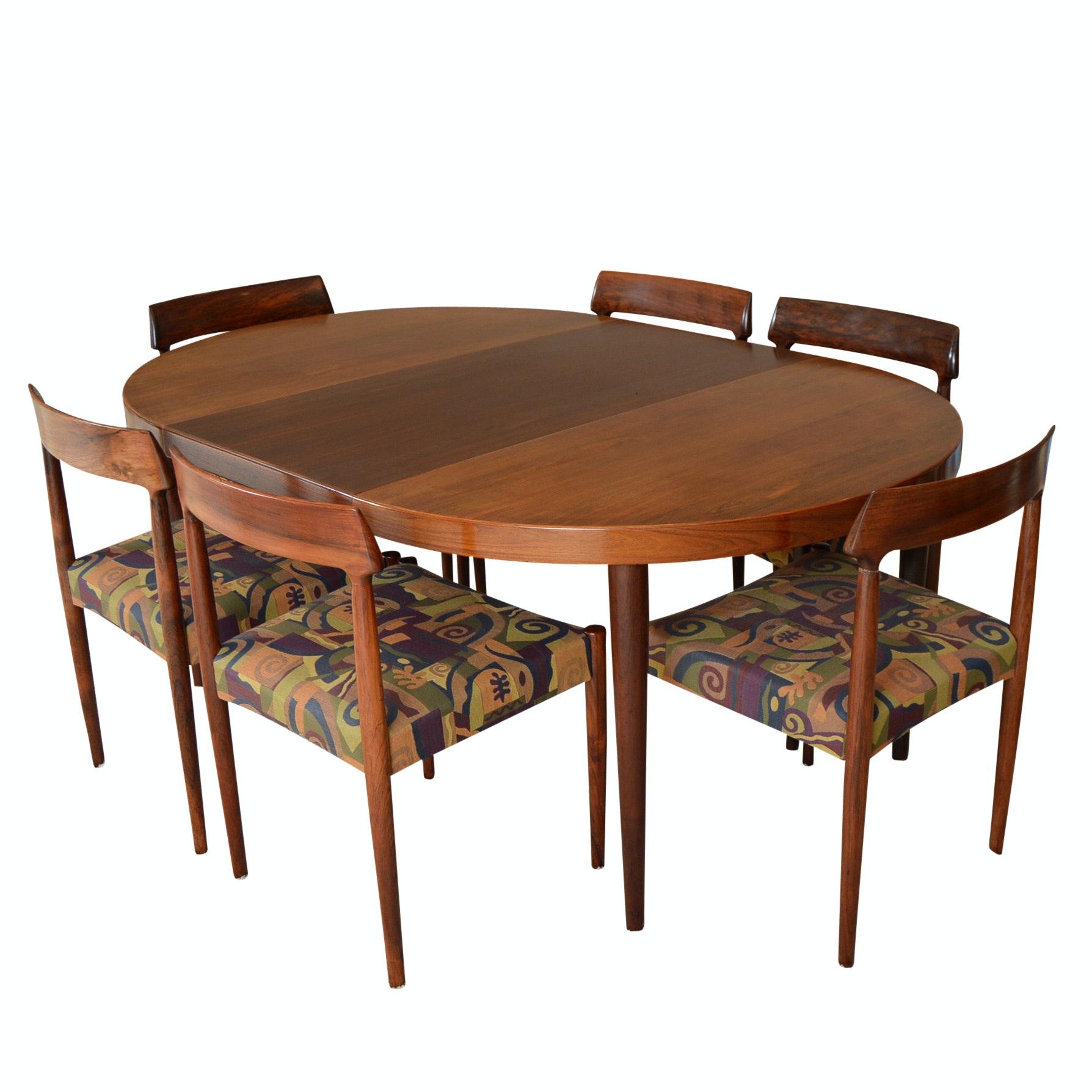 Mid Century Modern Arne Vodder For Sibast Danish Dining Set In Rosewood ...