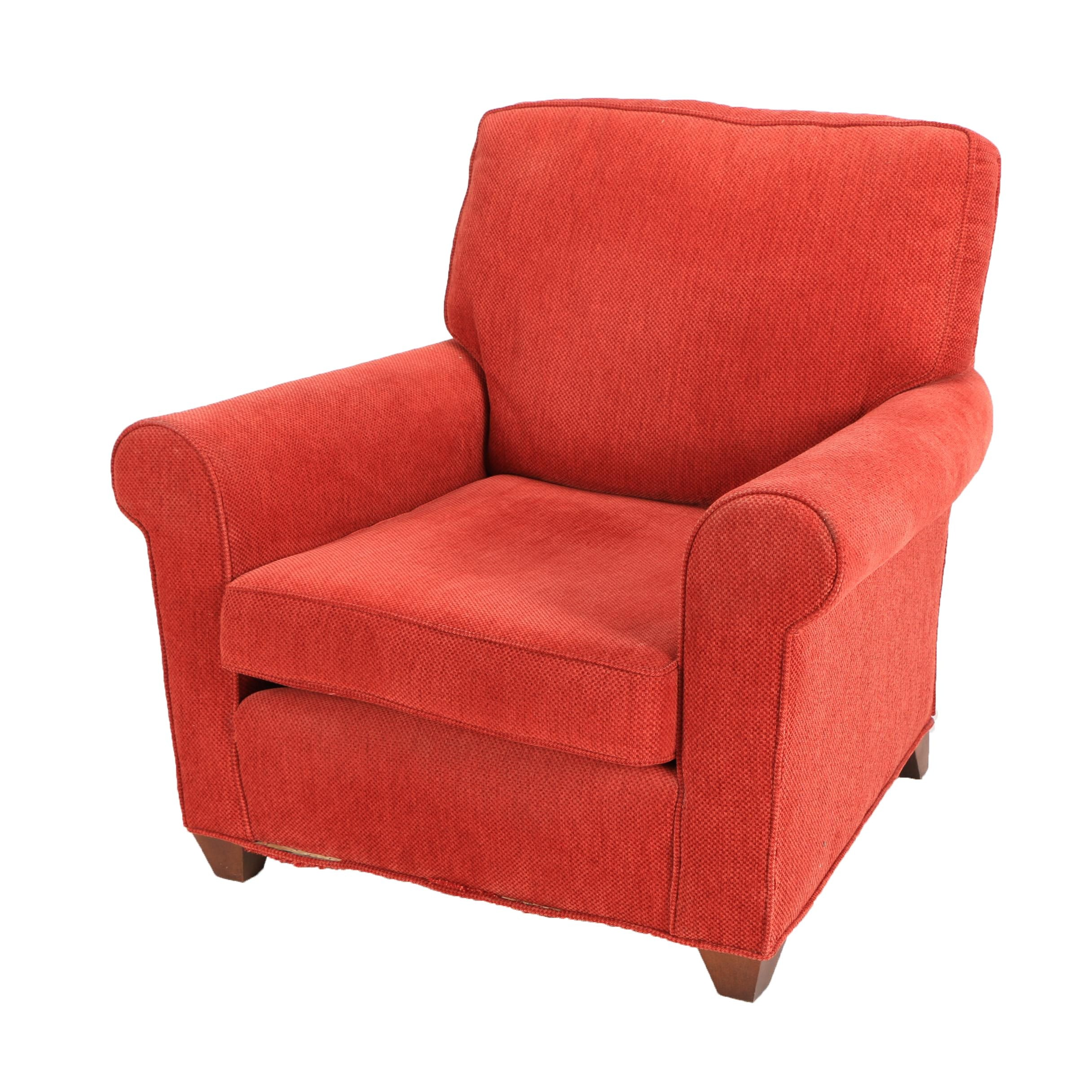 Red Upholstered Armchair