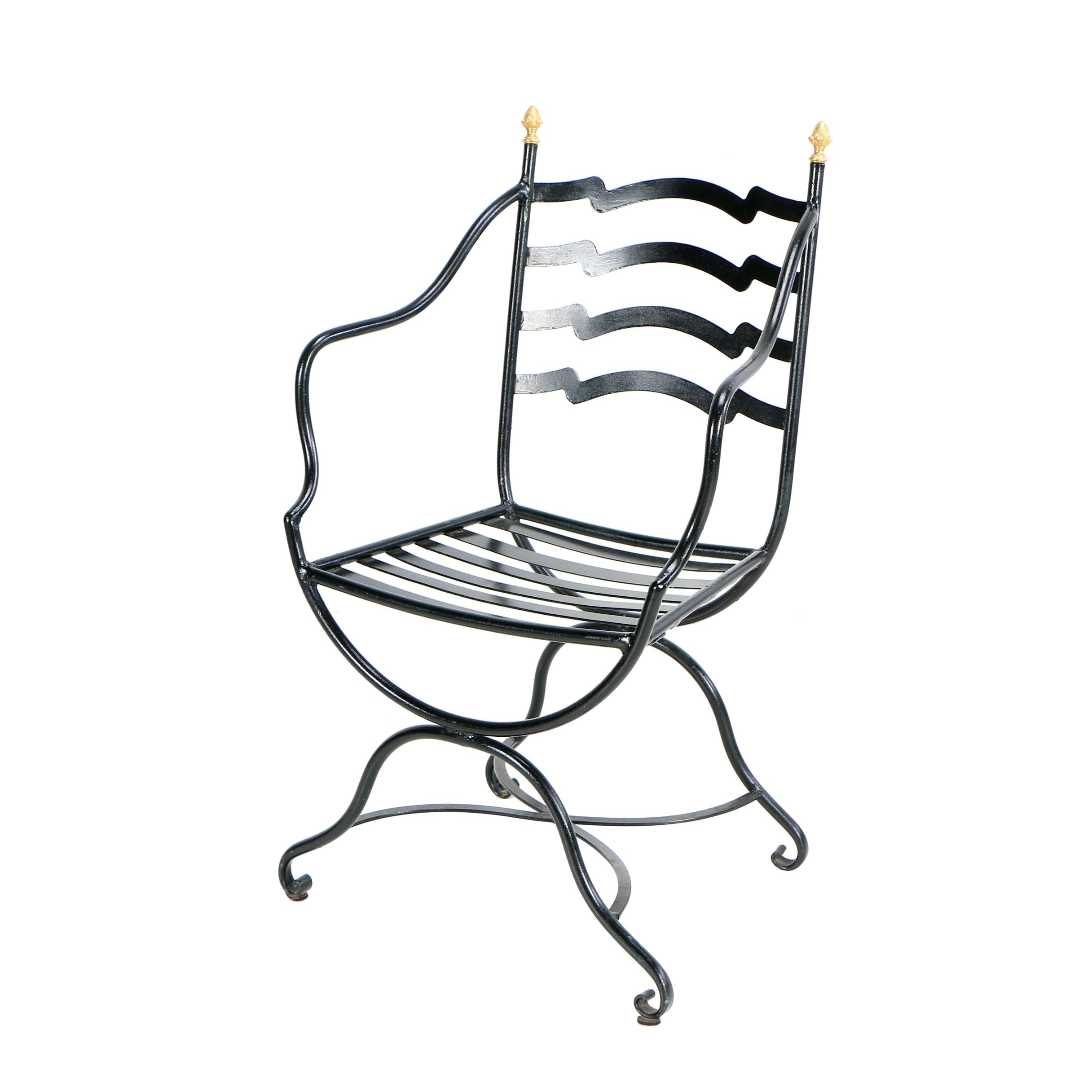Black Metal Patio Chair