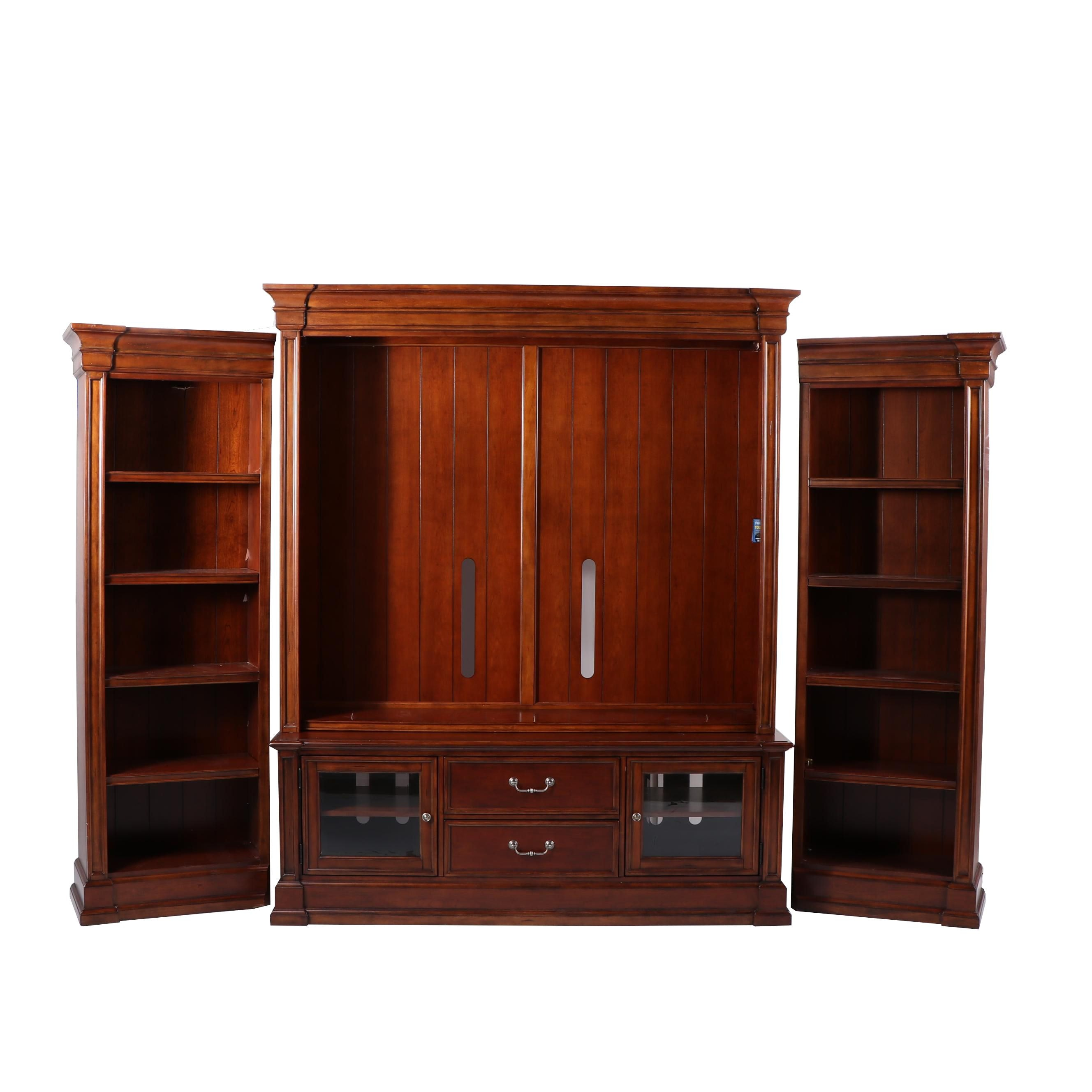 Media Cabinet with Bookcases by Hooker