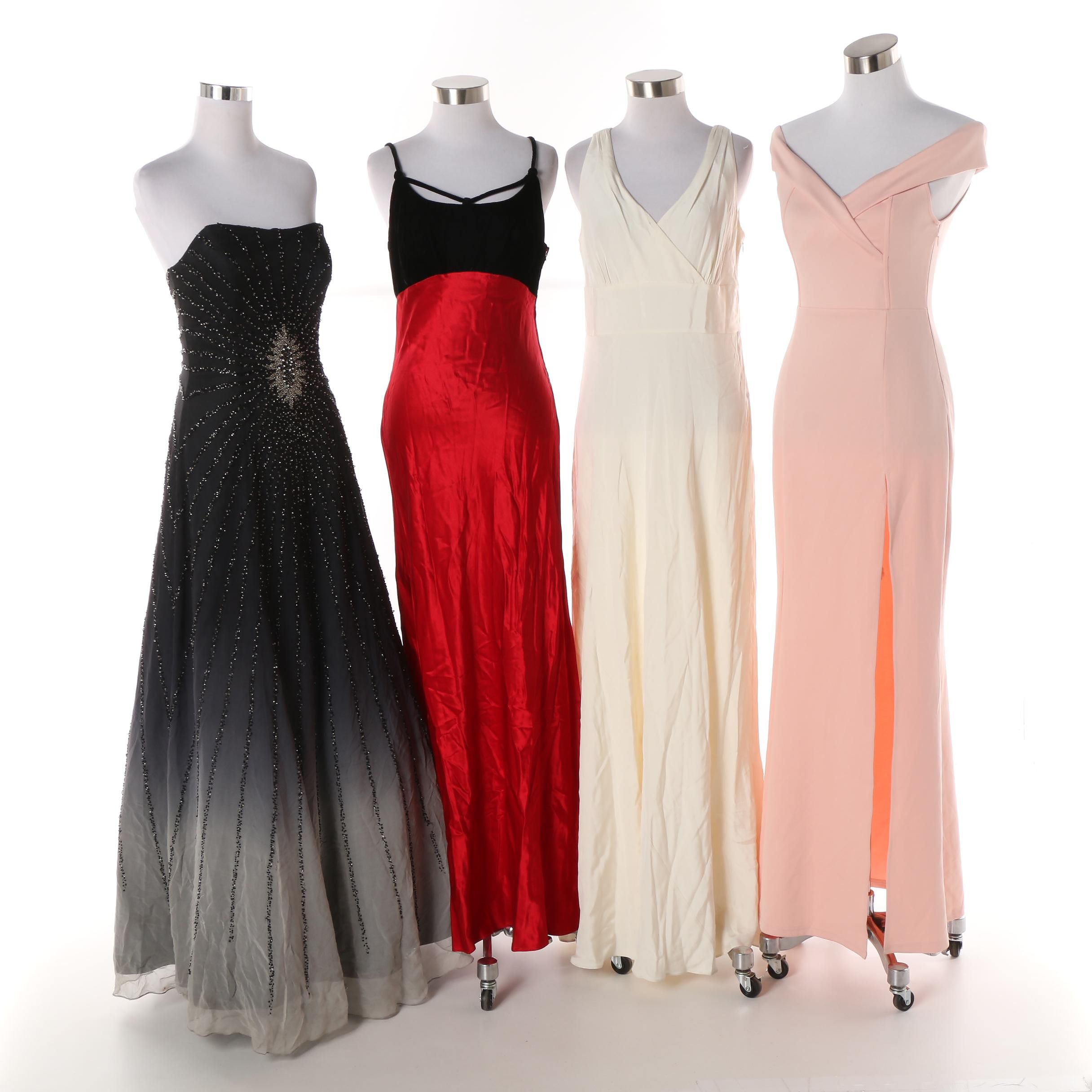 Women's Gowns including Beaded and Silk