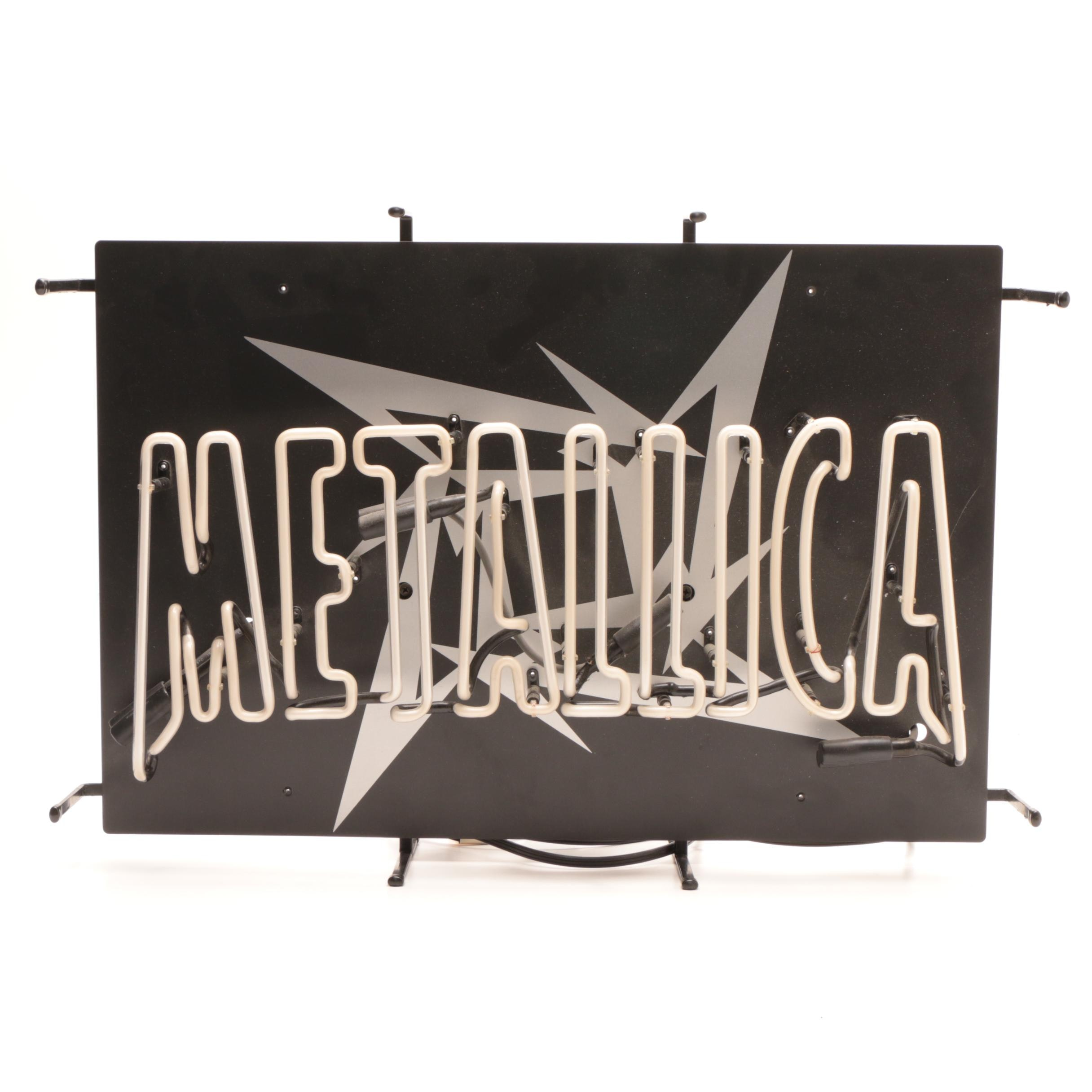 1996 Metallica Neon Light Sign