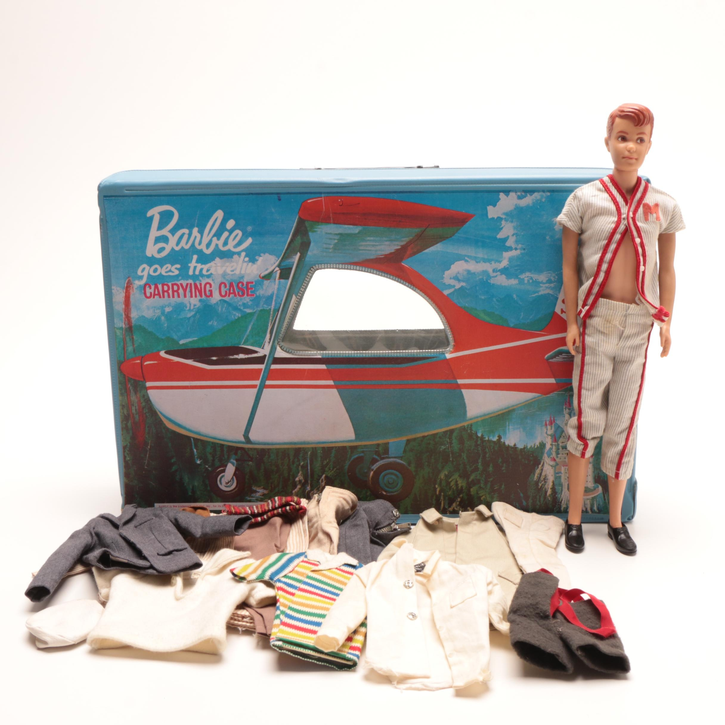 Barbie Goes Traveling Carrying Case with Allen Doll & Accessories