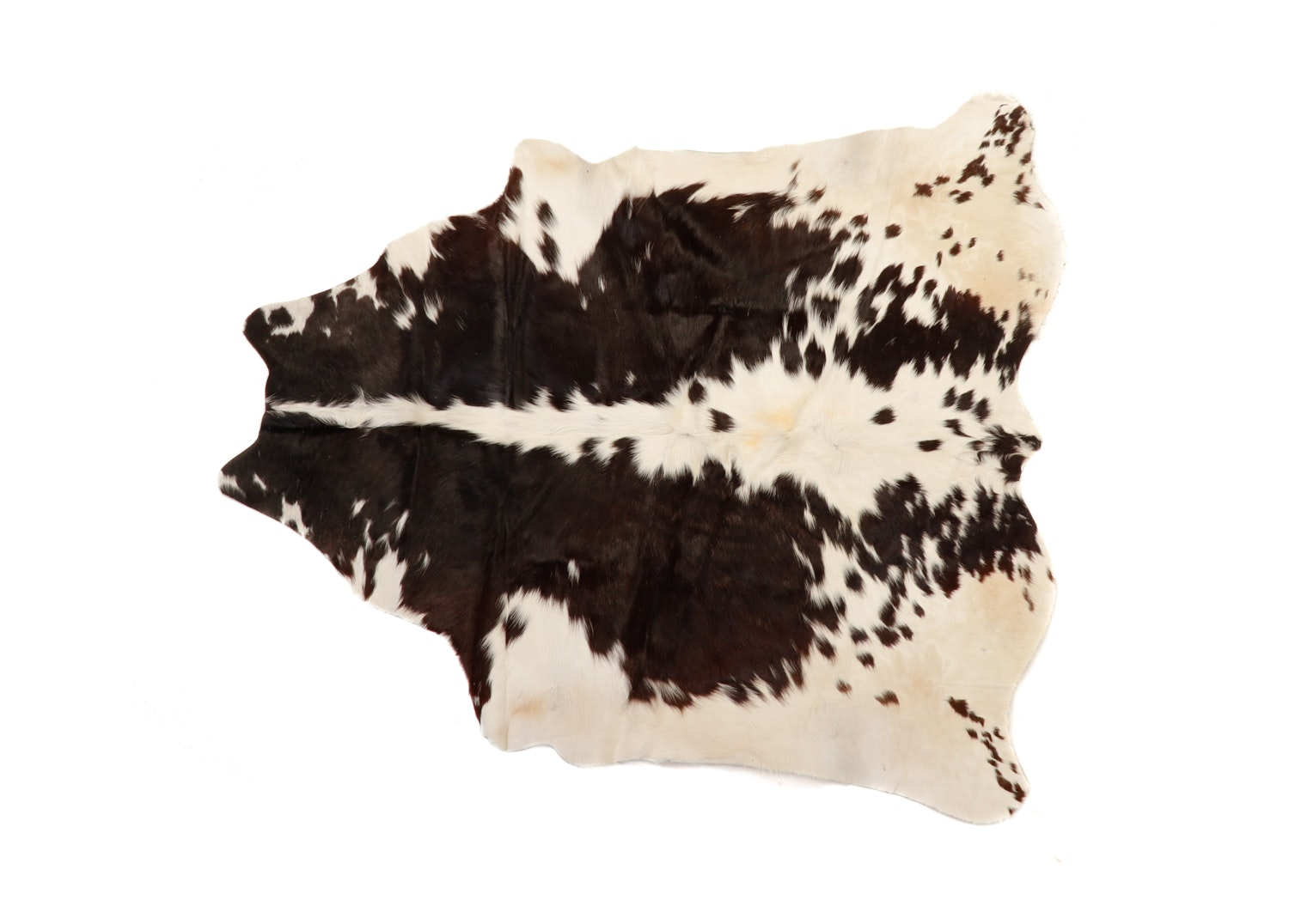 Natural Brown and White Spotted Cowhide Floor Covering