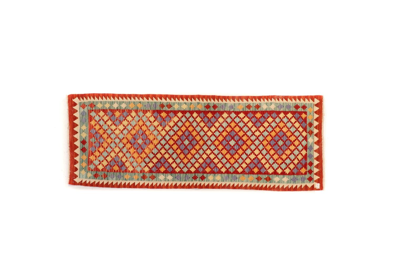 Vintage Hand-Knotted Turkish Wool Kilim