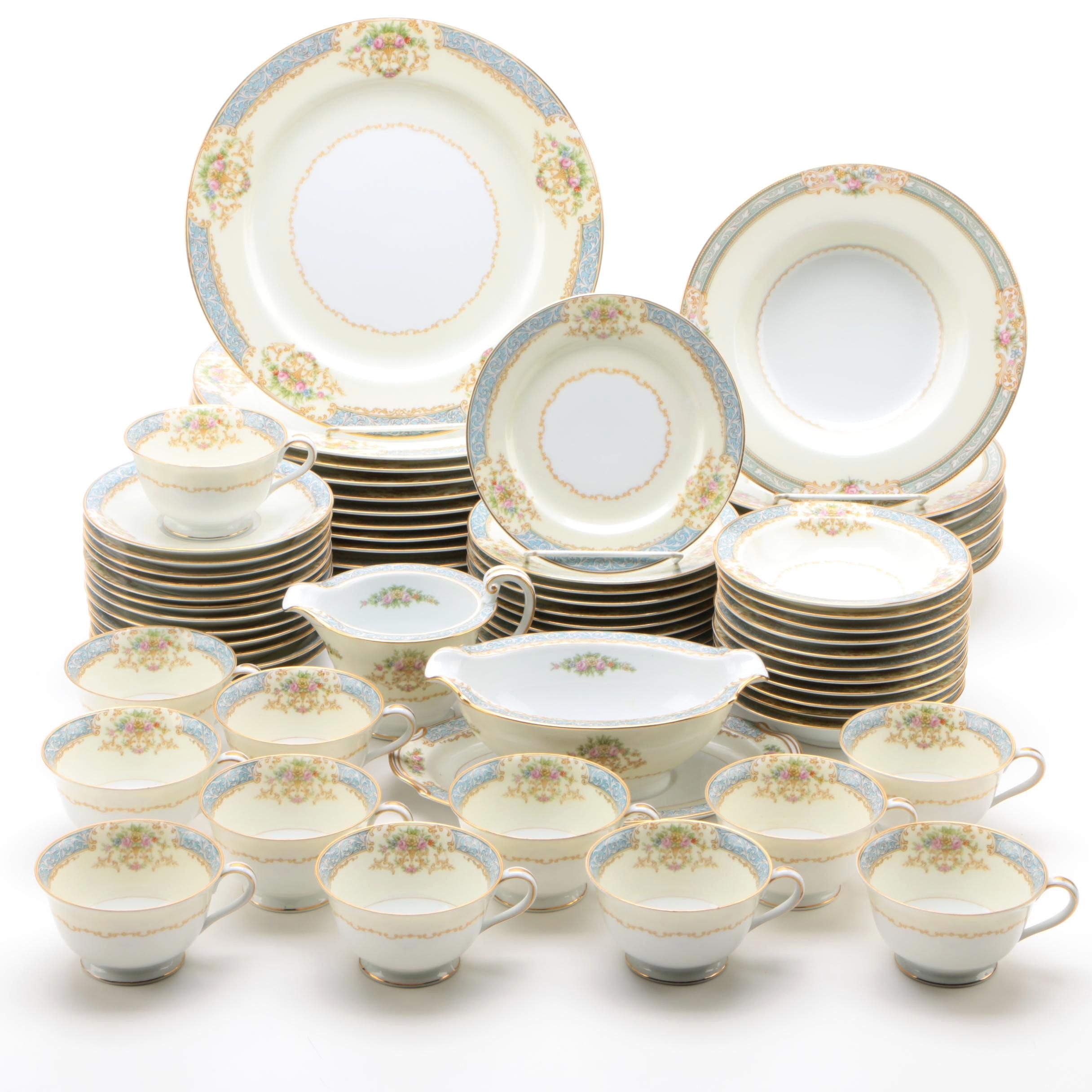 """Noritake """"Chevonia"""" Porcelain Dinnerware"""