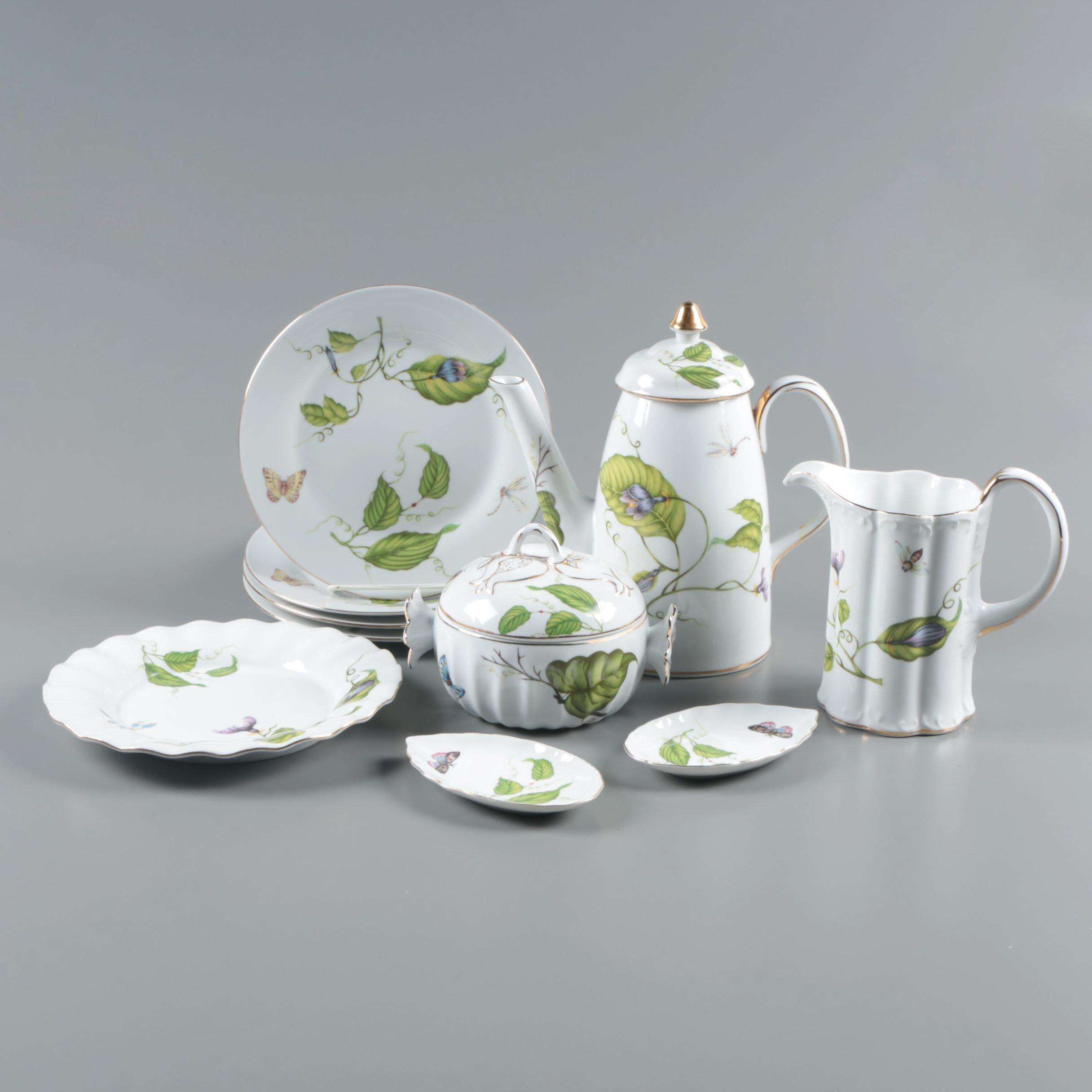 """I. Godinger & Co. """"Jardin"""" Porcelain Serveware"""