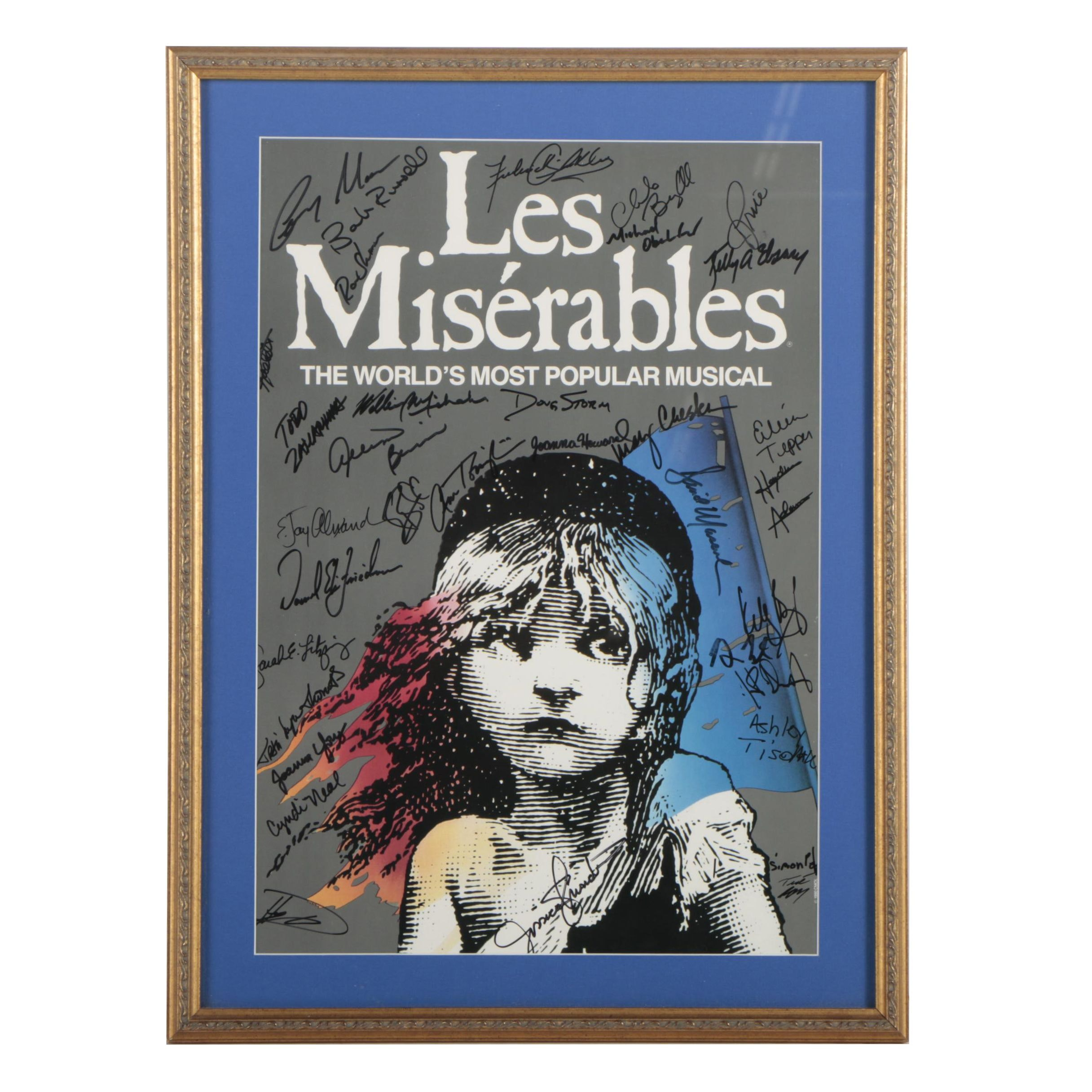 """Les Miserables"" Offset Lithograph Poster Signed by Cast"