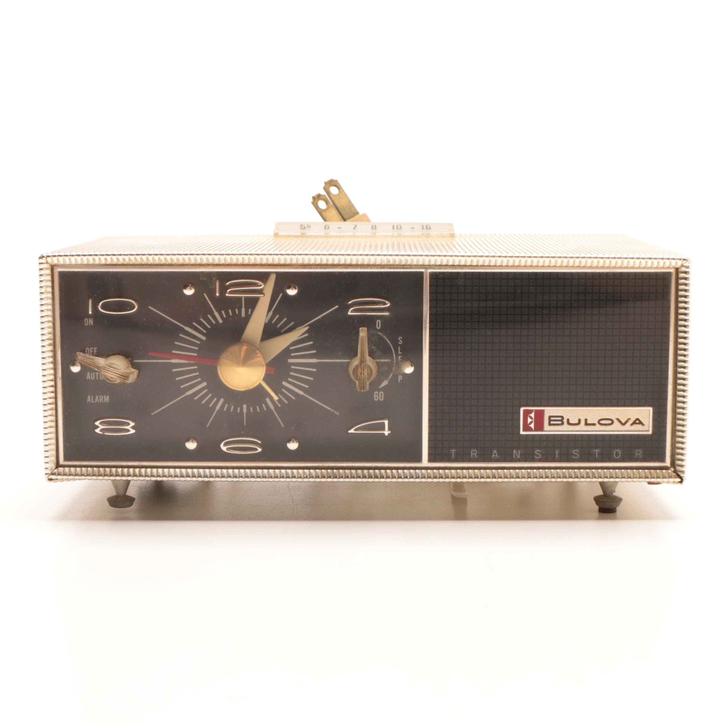 1962  Bulova Electric Alarm Clock Radio