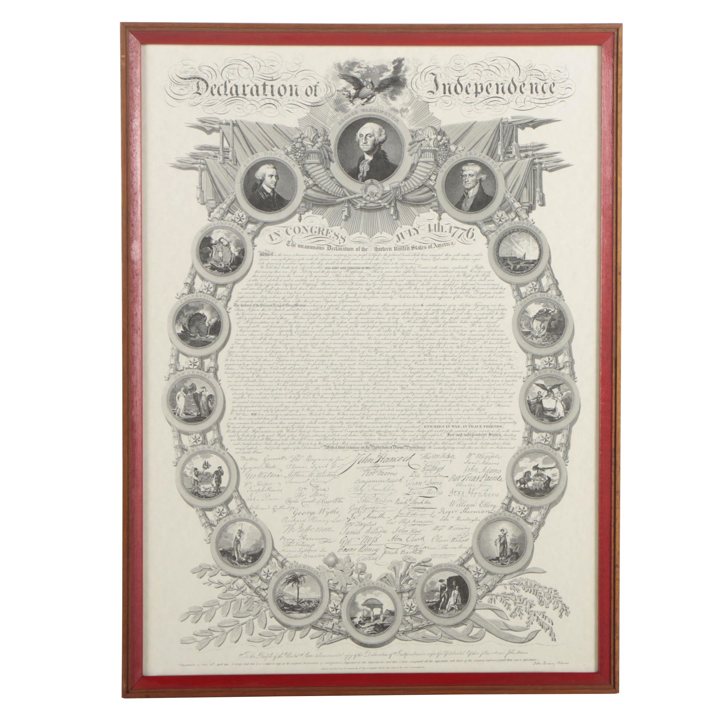Lithograph of the Declaration of Independence