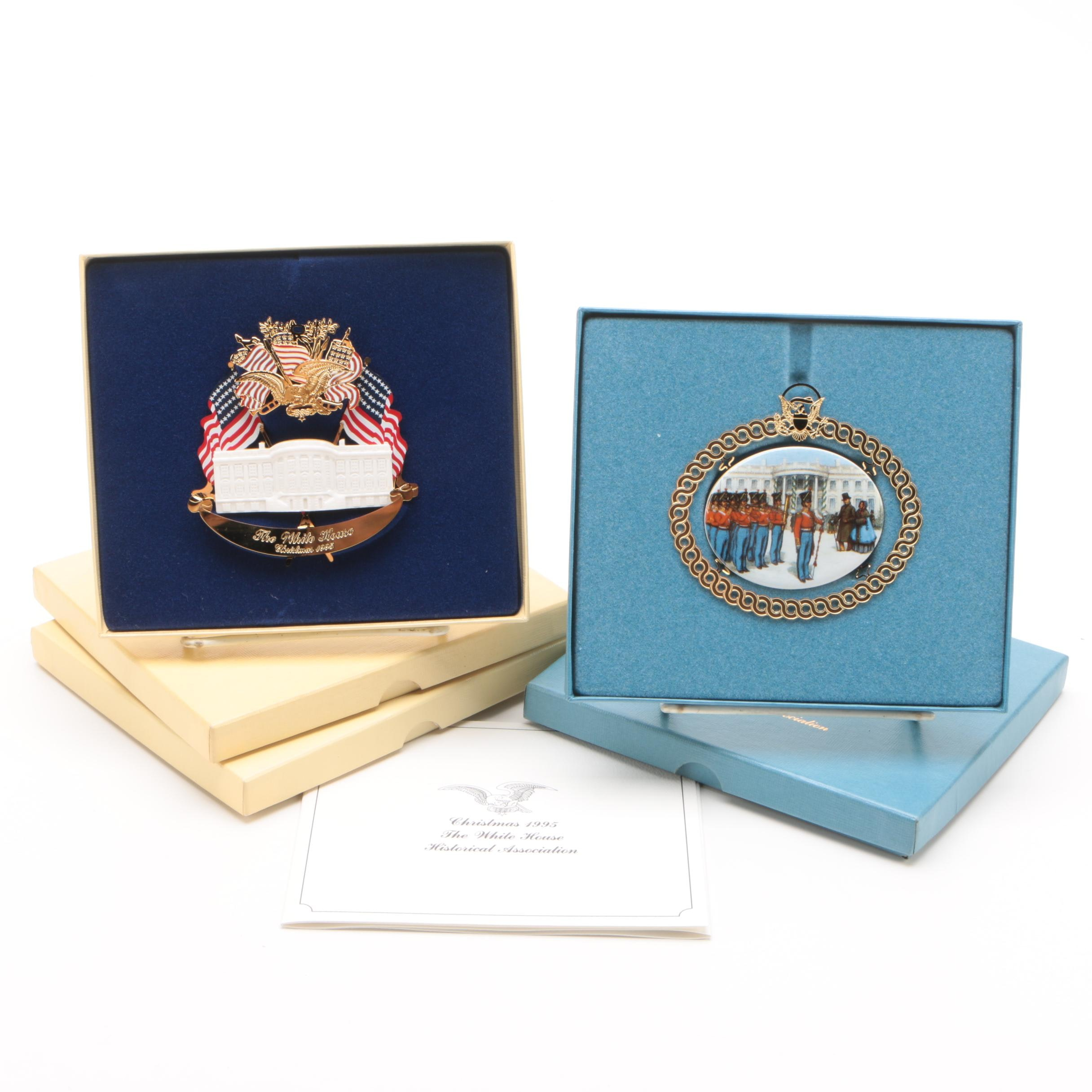 The White House Historical Association Annual Ornaments Circa 1994-1995