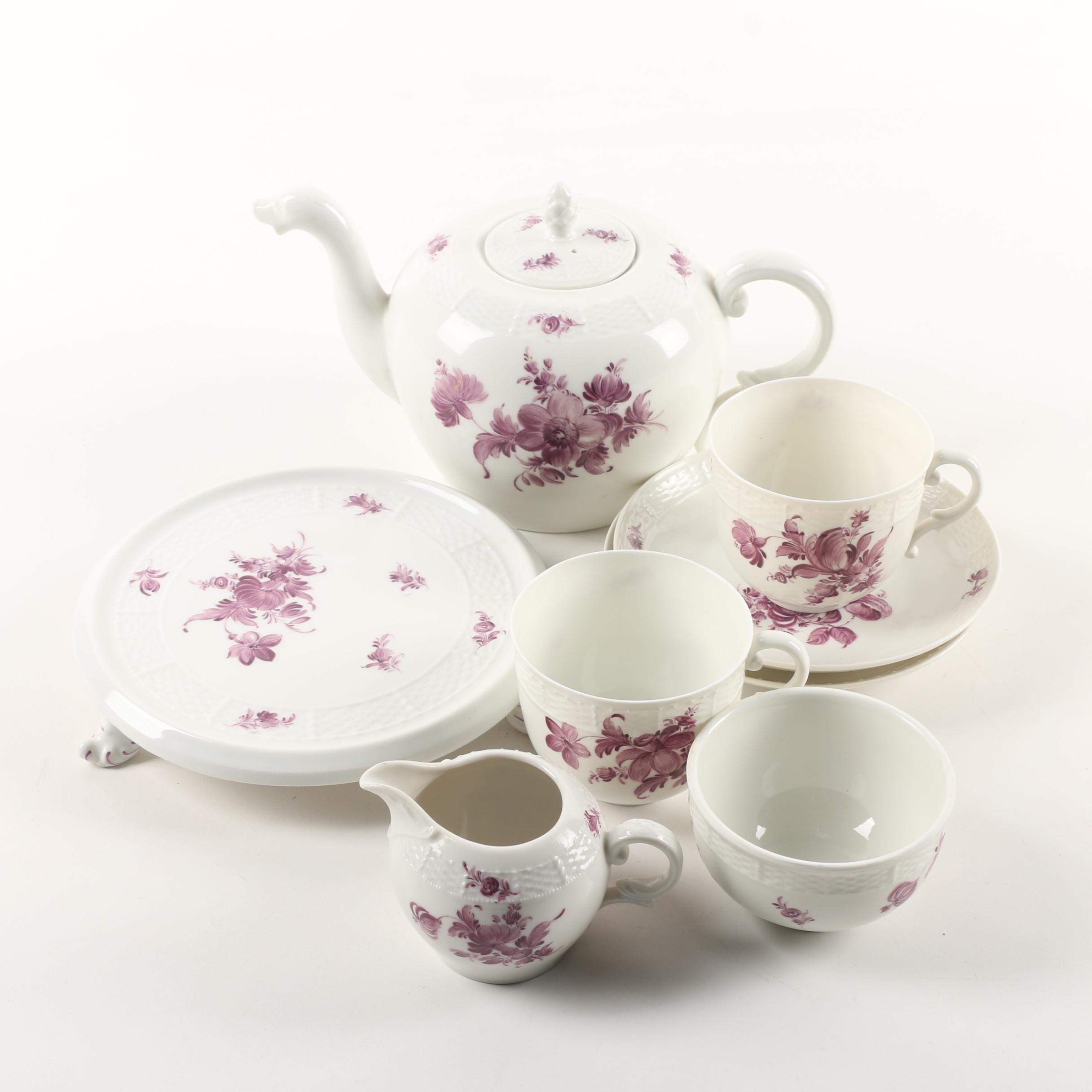 Vintage Hand-Painted Nymphenburg Porcelain Tea Service