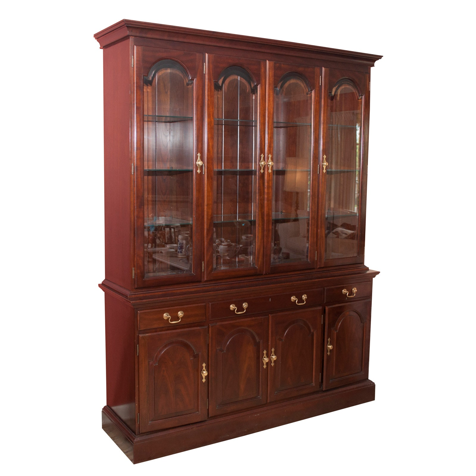 Federal Style Mahogany China Cabinet by Stickley, Late 20th Century