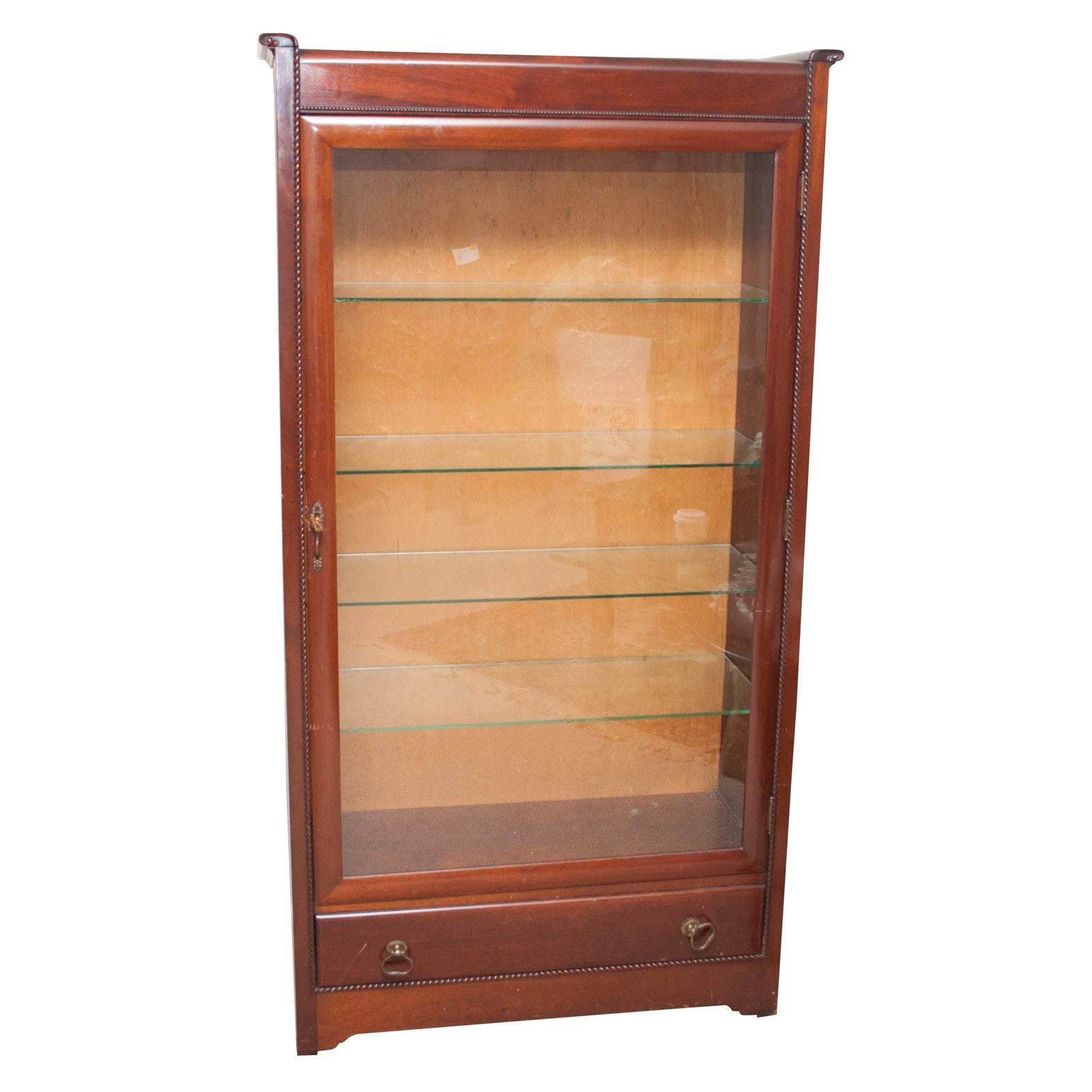 Regency Style Mahogany Display Cabinet, Mid-20th Century