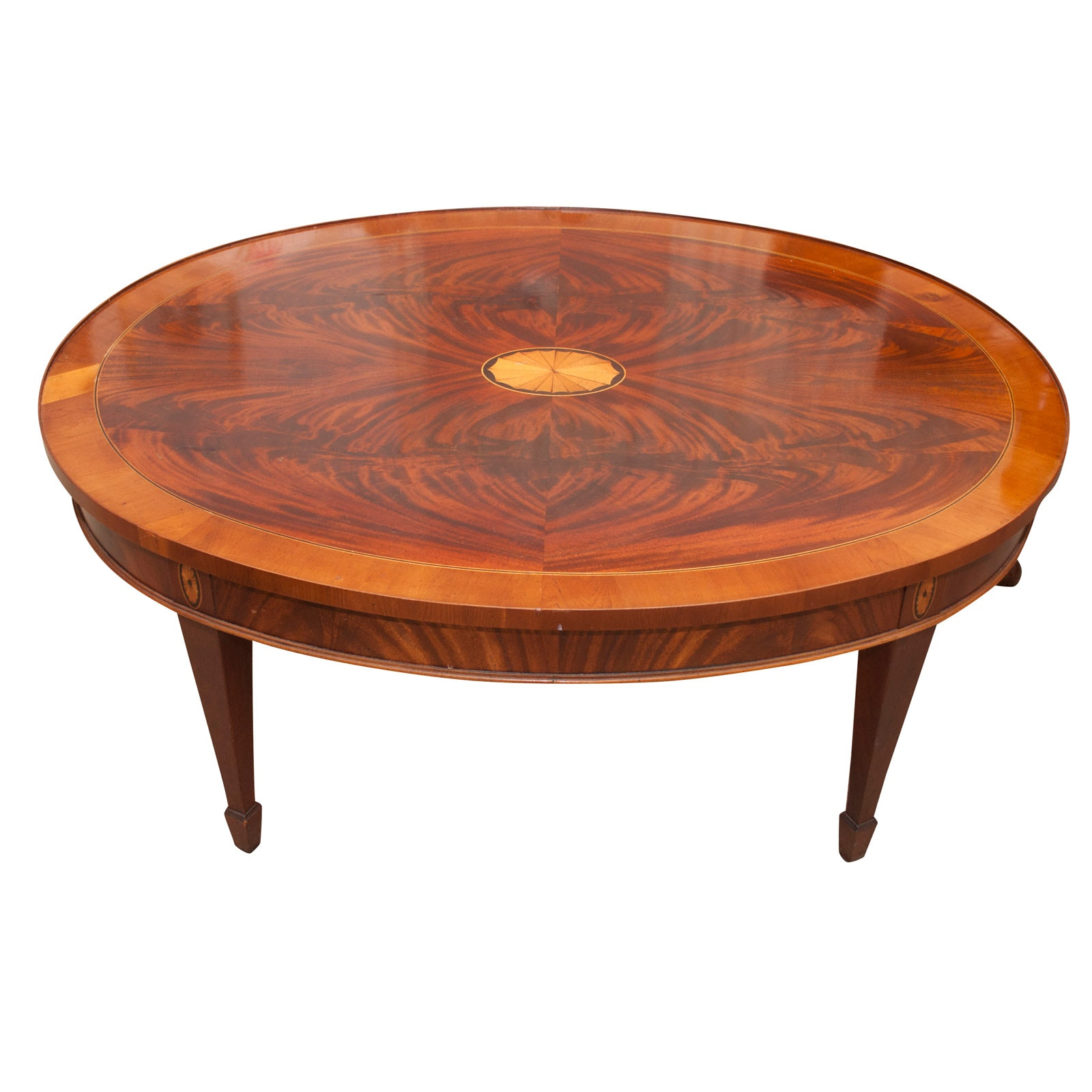 """Copley Place Collection"" Mahogany and Marquetry Coffee Table by Hekman"