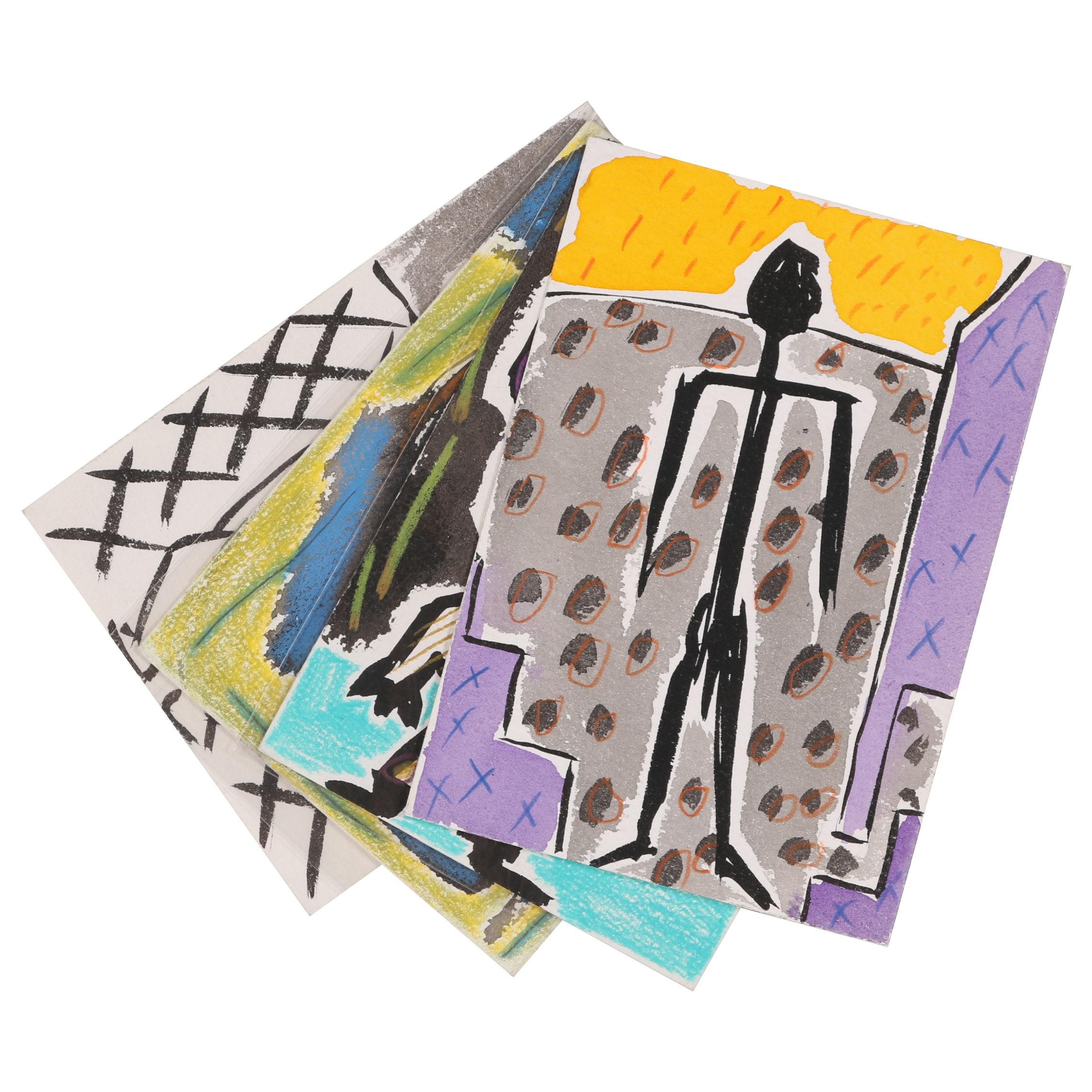 Merle Rosen Mixed Media Figure Paintings