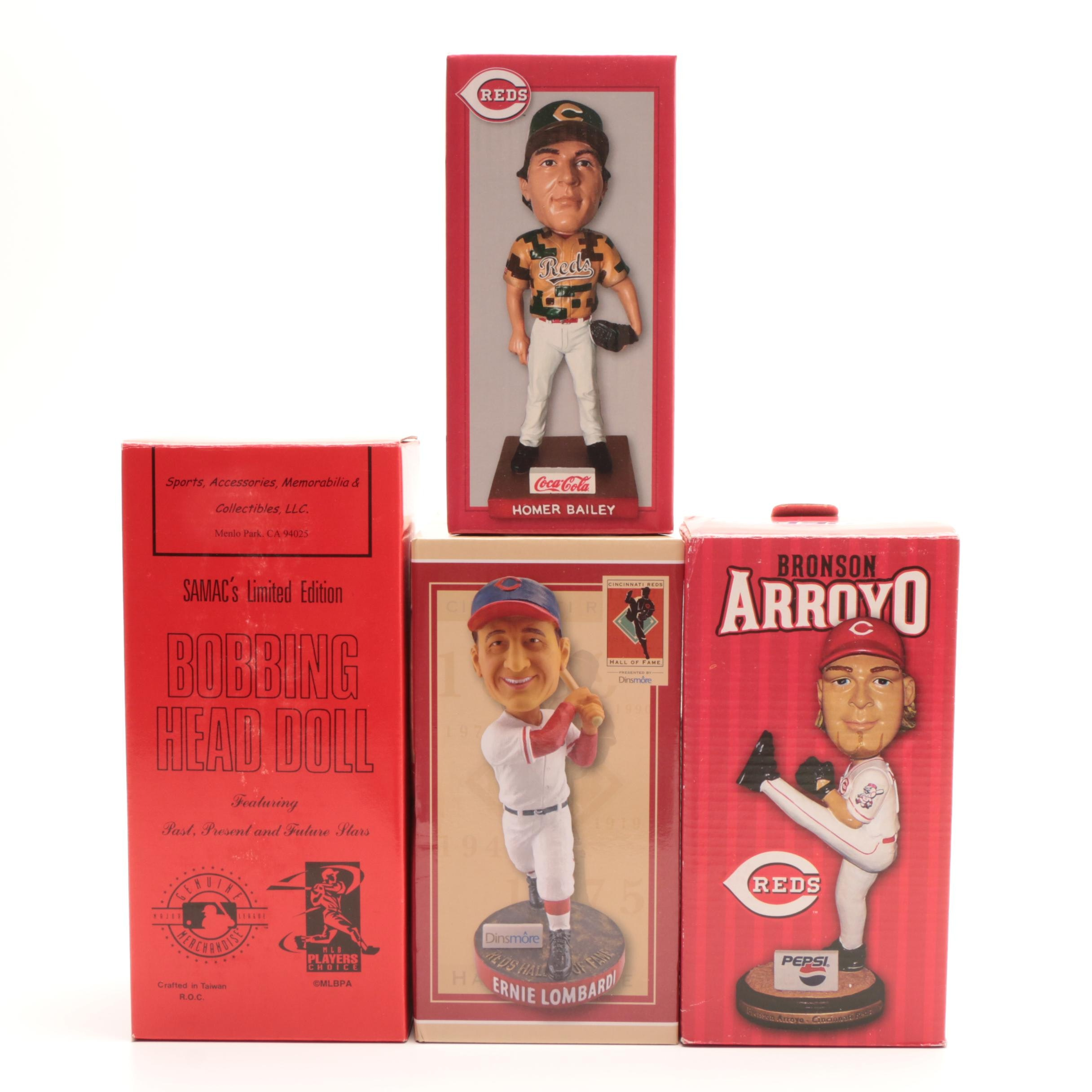 Griffey Jr., Lombardi, Bailey and Arroyo Bobbleheads