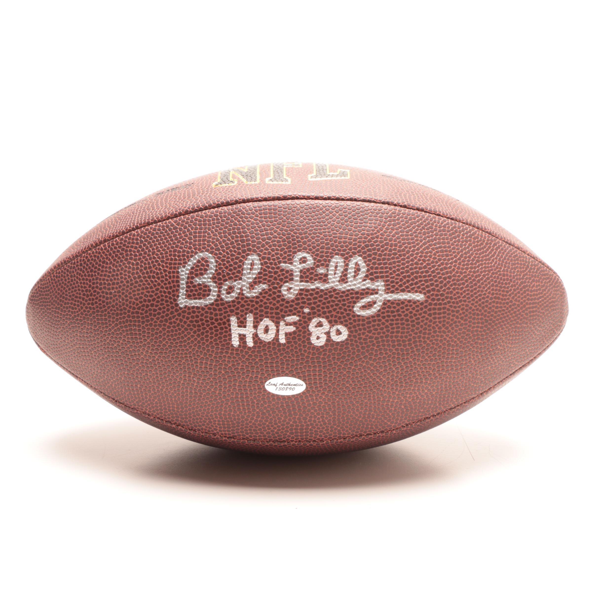 Bob Lilly Signed Football  COA