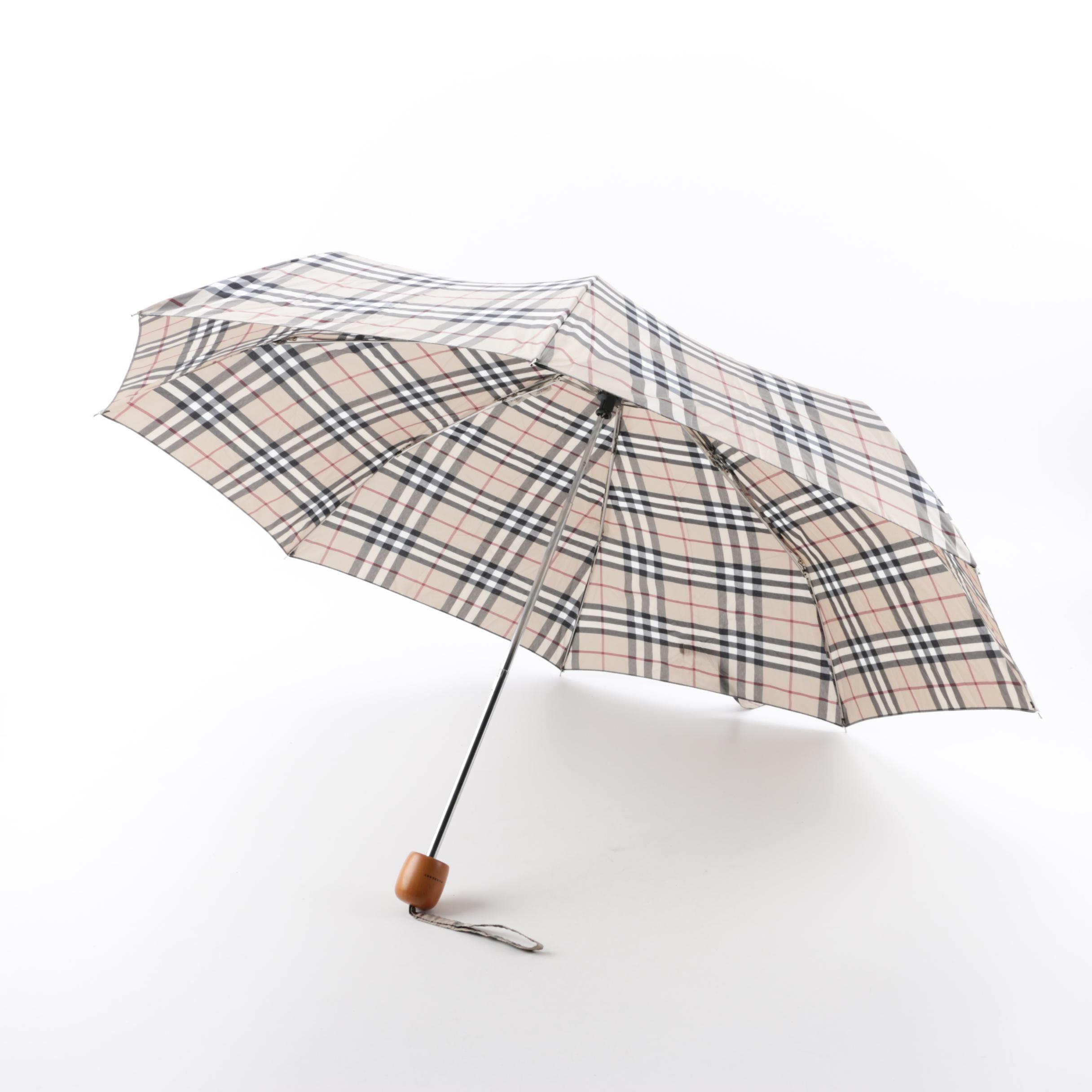 Burberry London Haymarket Check Umbrella