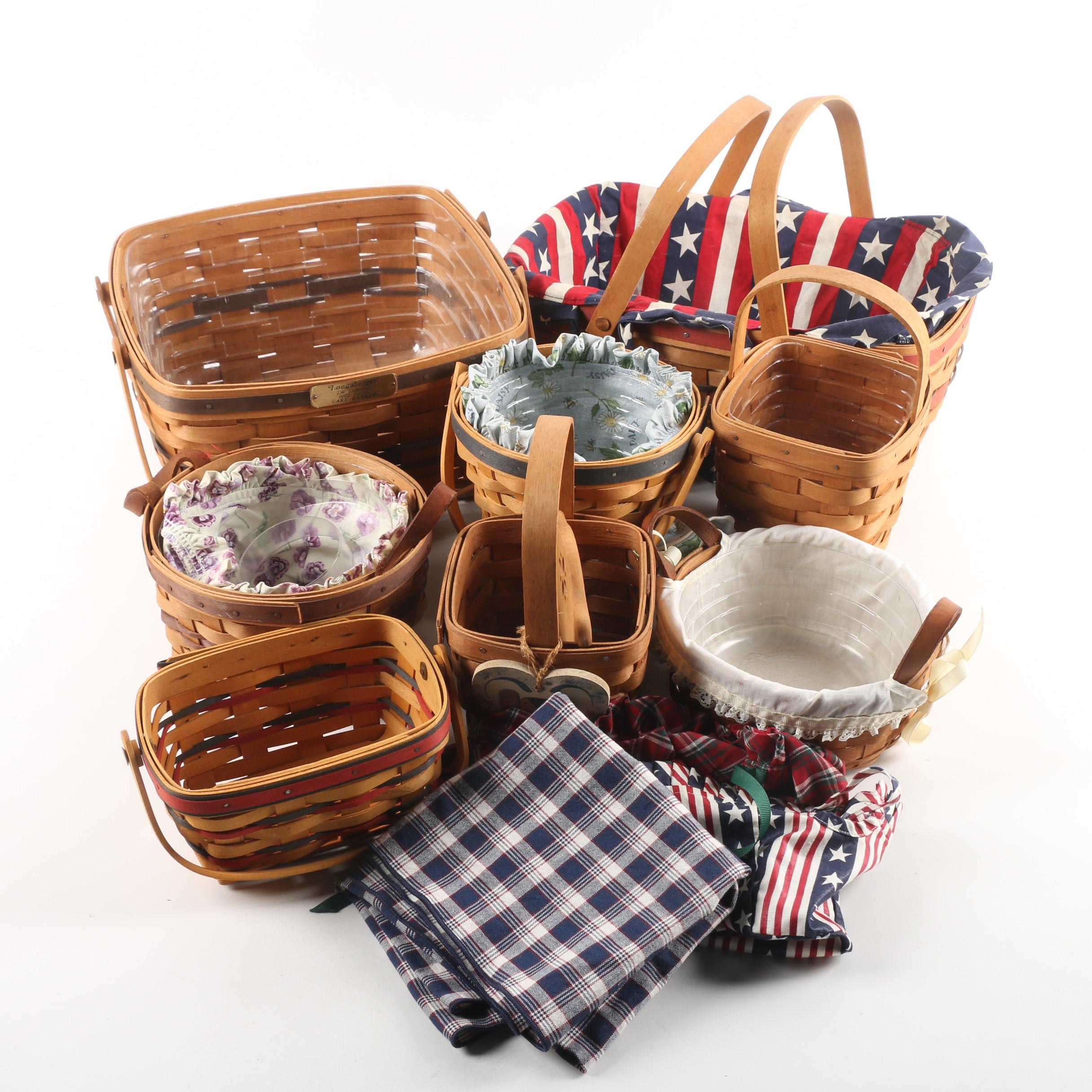 Longaberger Baskets Including the J.W. Collection 1992 Cake Basket