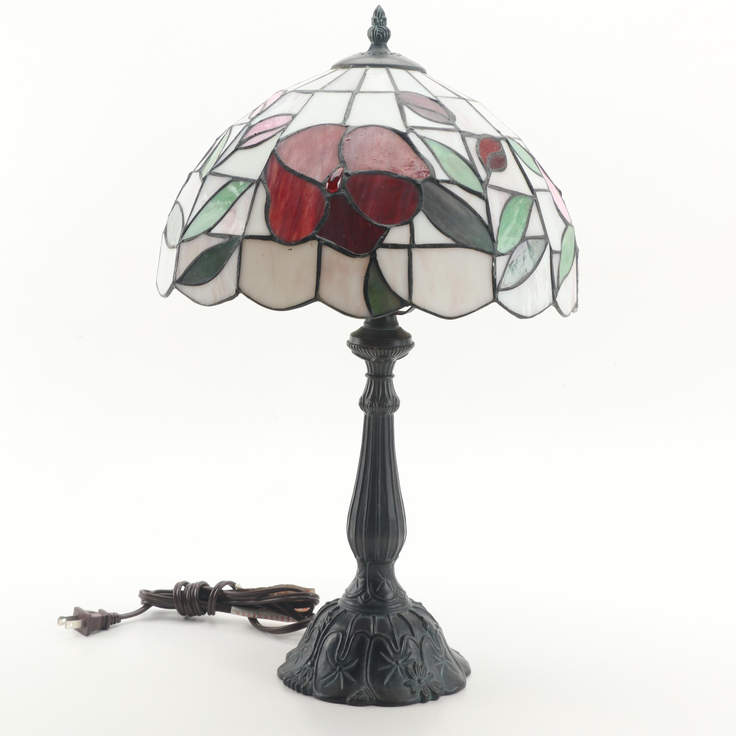 Stained Glass Style Resin Table Lamp