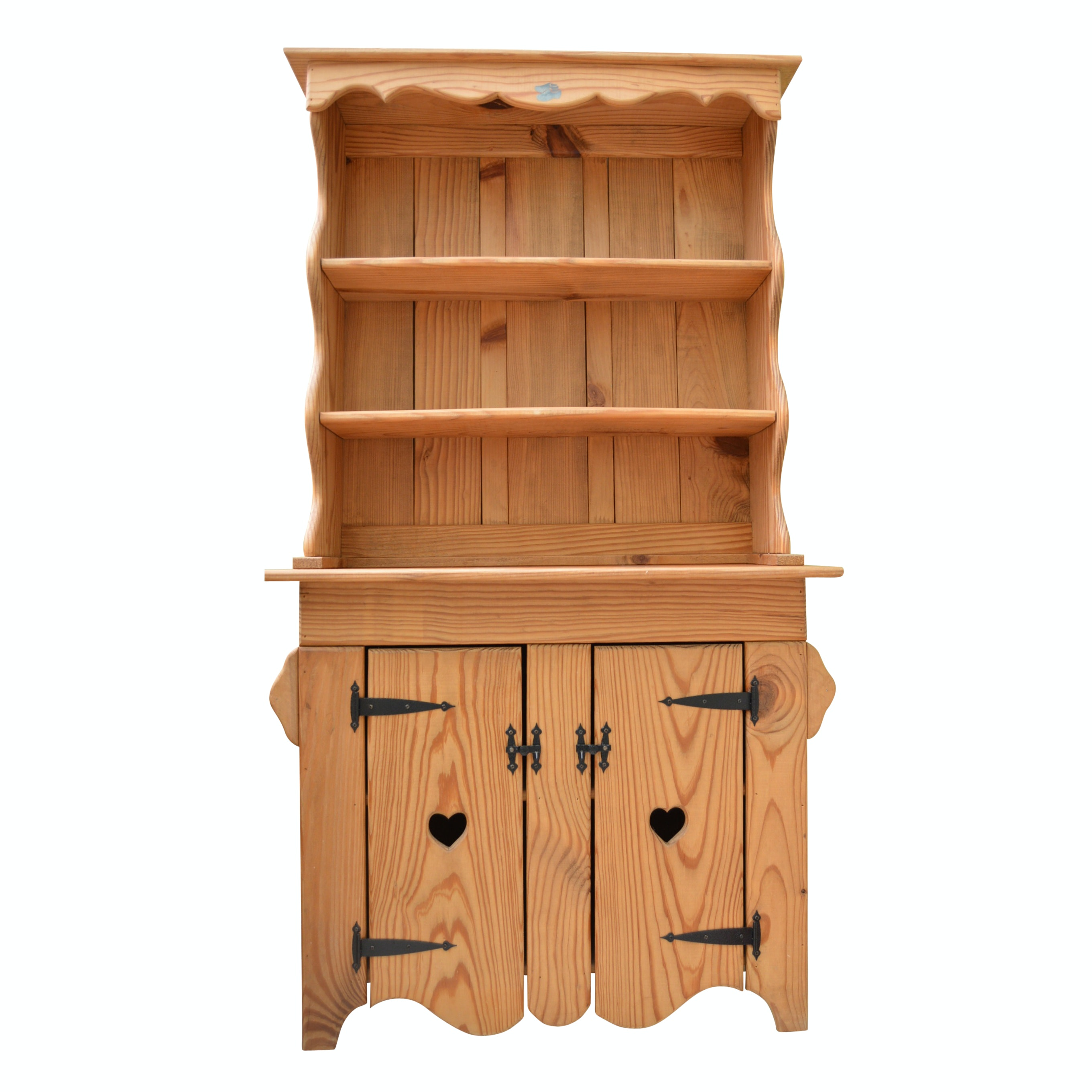 Reproduction Pine Stepback Cupboard