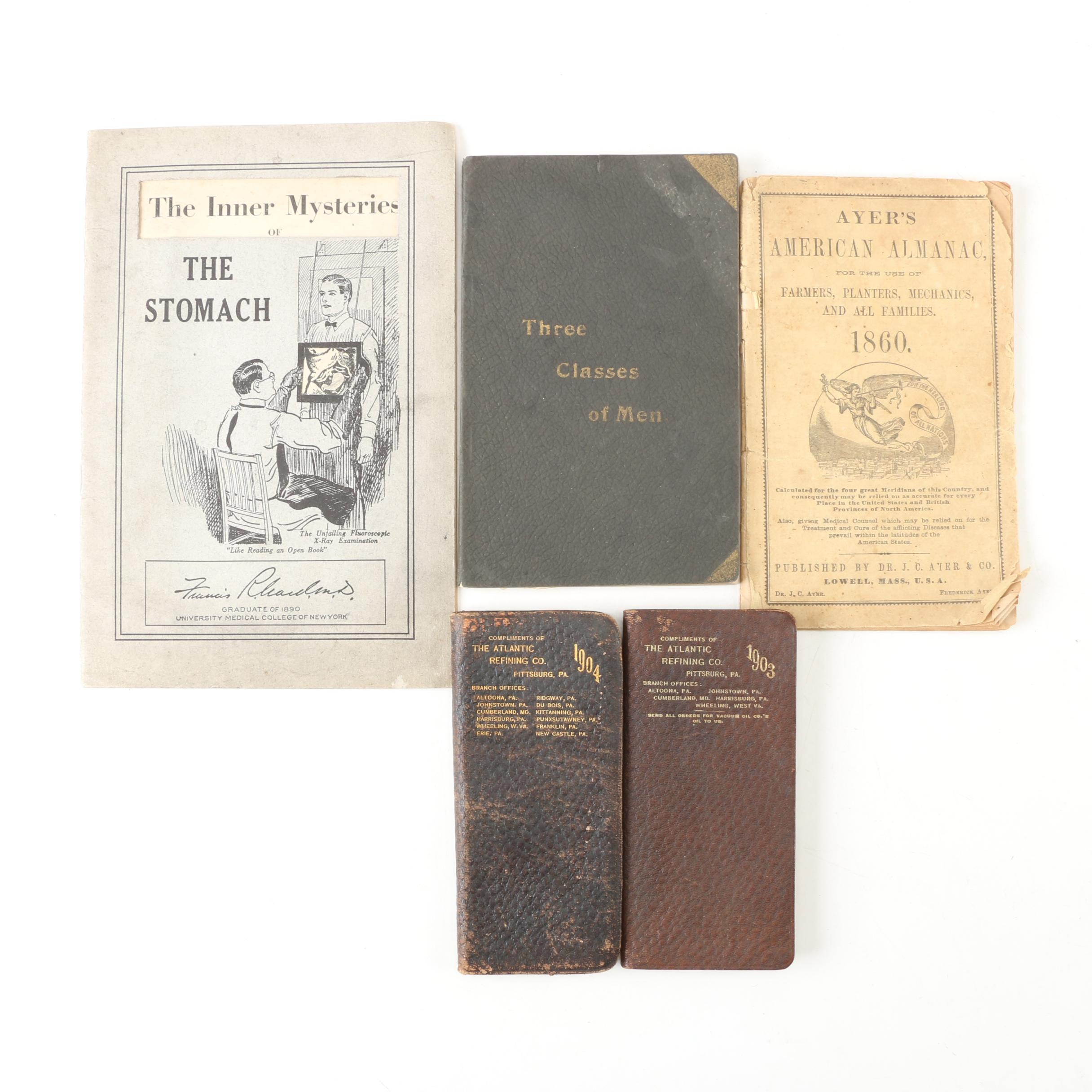 Medical Pamphlets and Planners, Mid-Late 19th Century