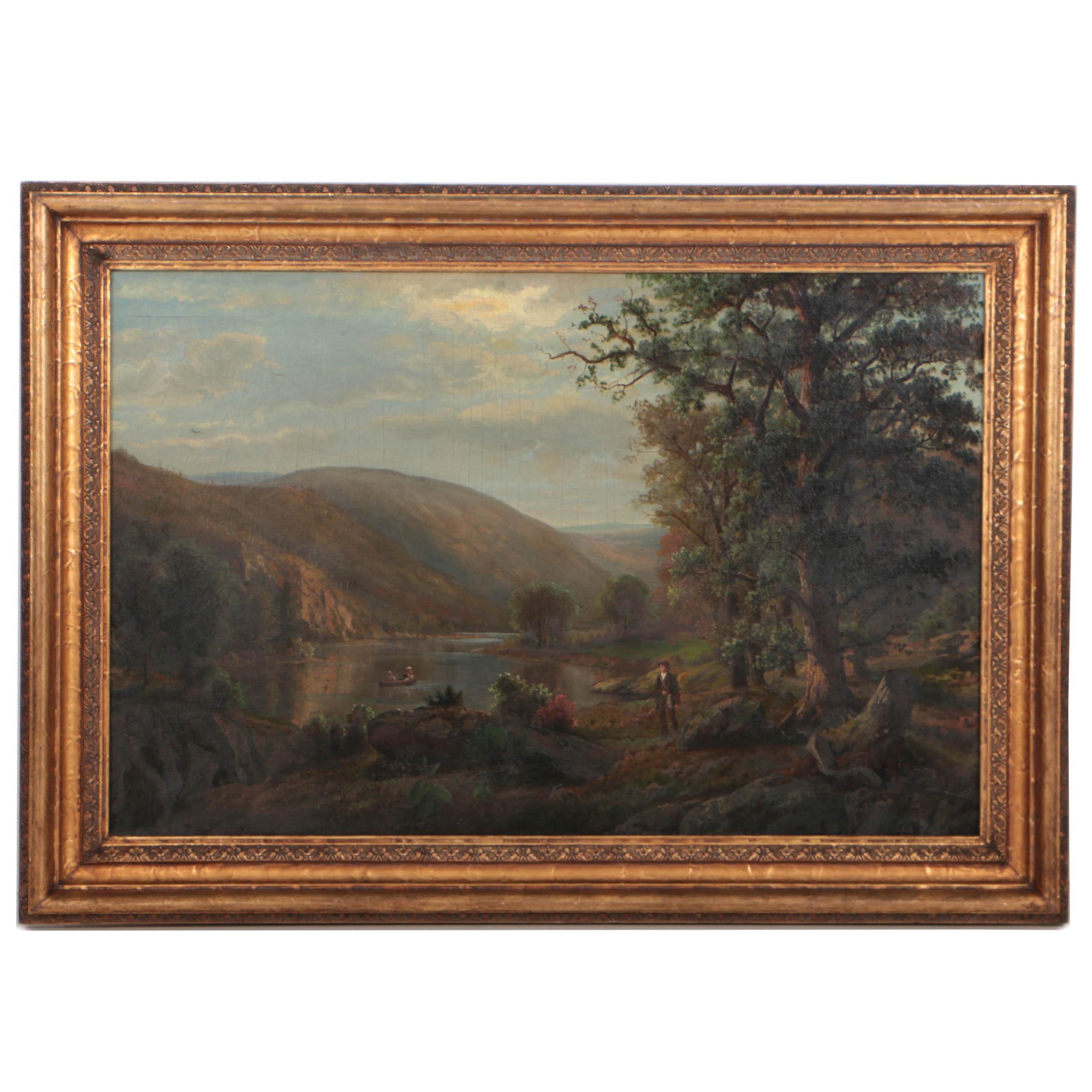 Henry W. Kemper 1881 Romantic Landscape