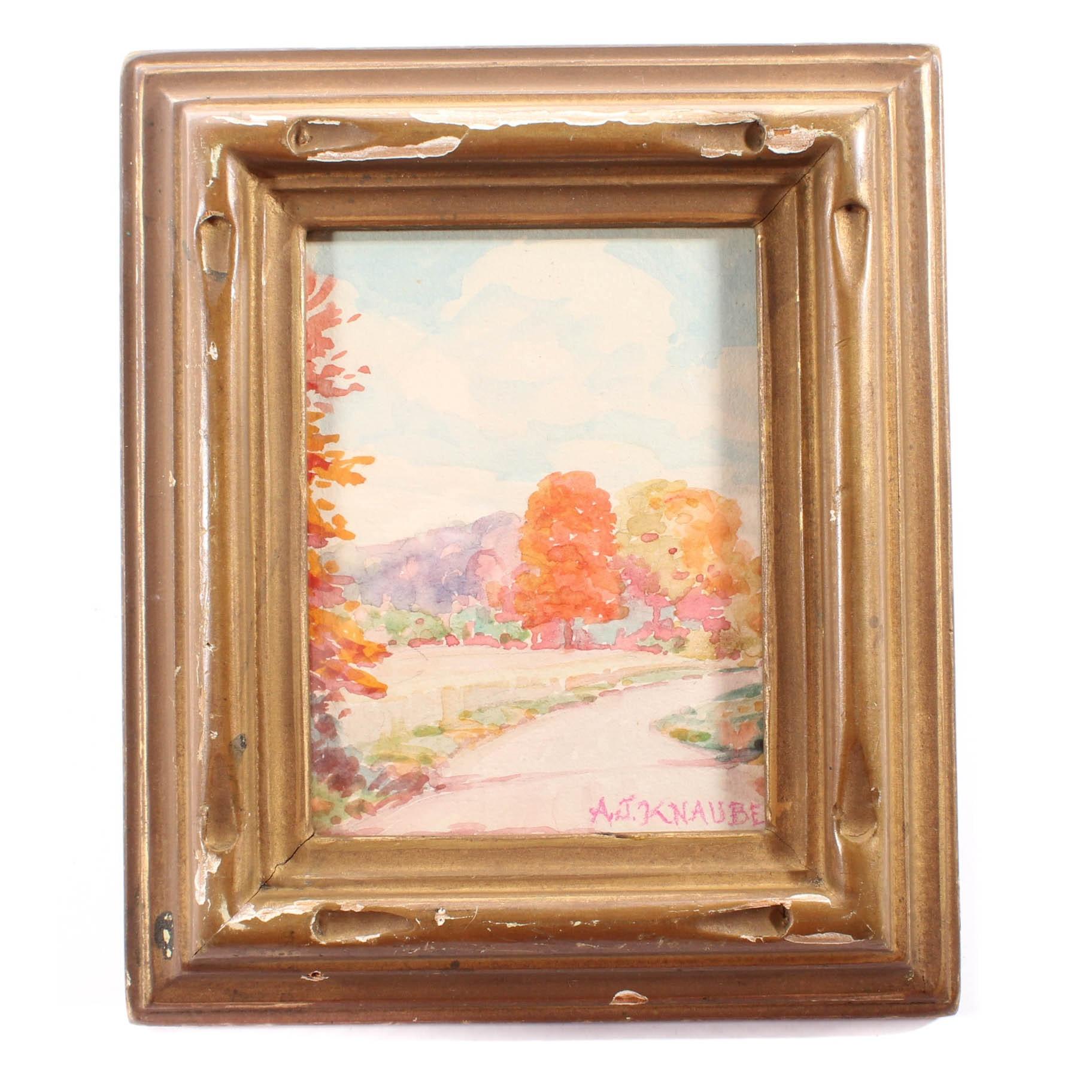 Alma Jordan Knauber Watercolor Landscape